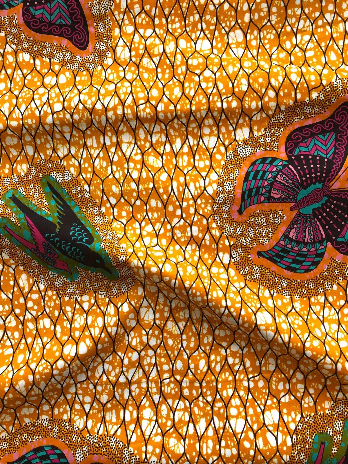 African Wax Print - Bird & Butterfly
