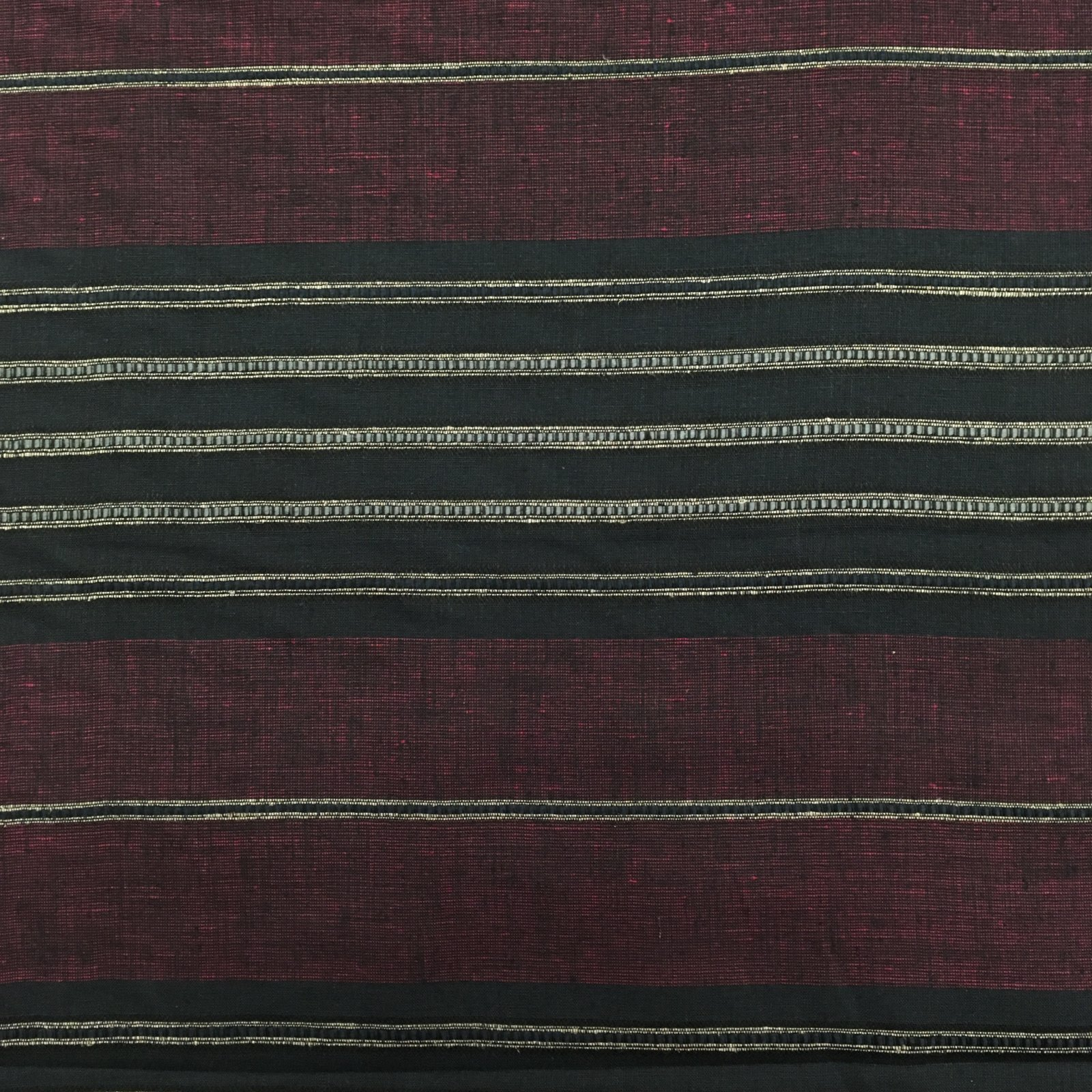 Yarn Dyed Linen - Burgundy Stripe