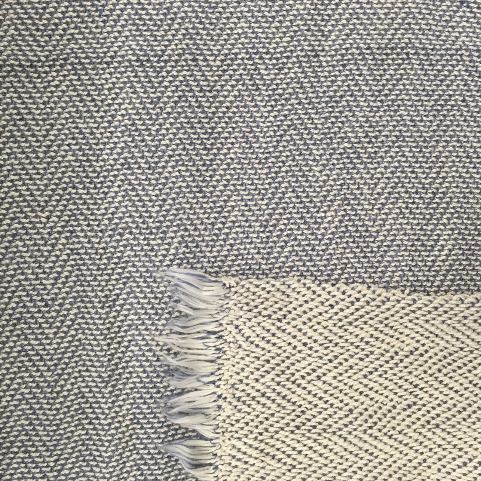Herringbone Chunky Sweater Knit - Blue