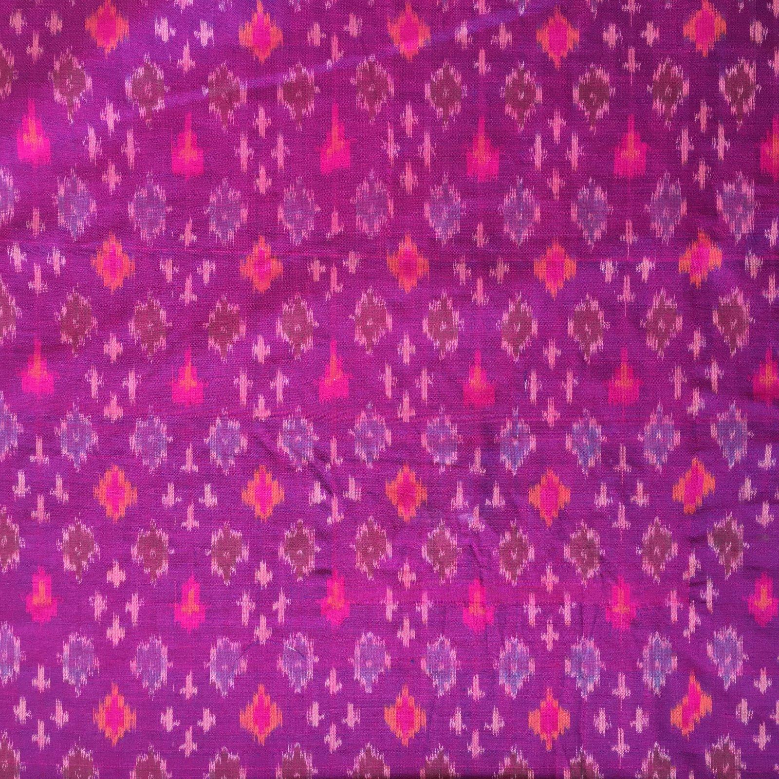 Silk/Cotton Ikat - Magenta