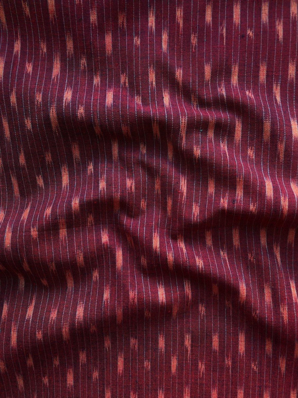 Dashed Line Ikat - Garnet