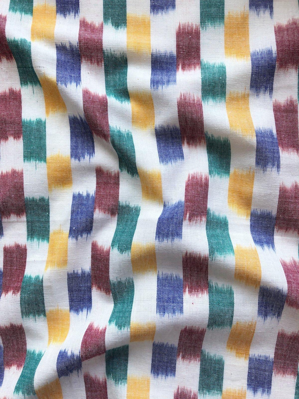 Checked Ikat - Rainbow