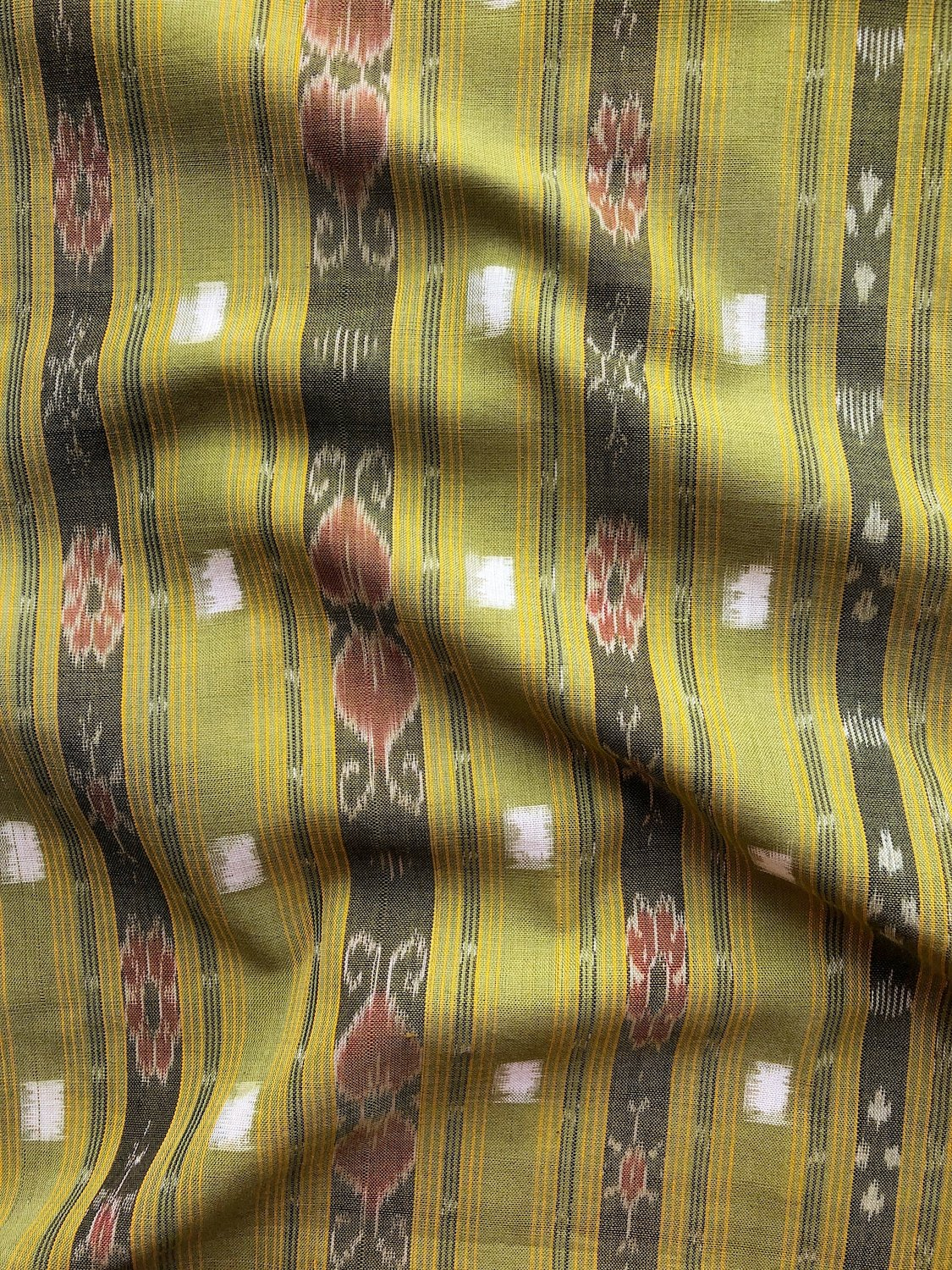 Stripes and Squares Ikat - Pickle
