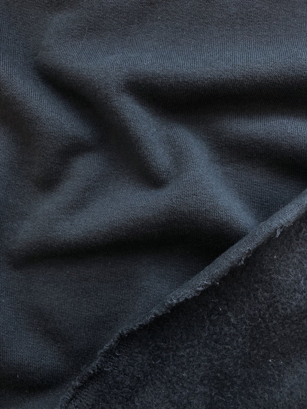 Birch Fabrics - Organic Sweatshirt Fleece - Black