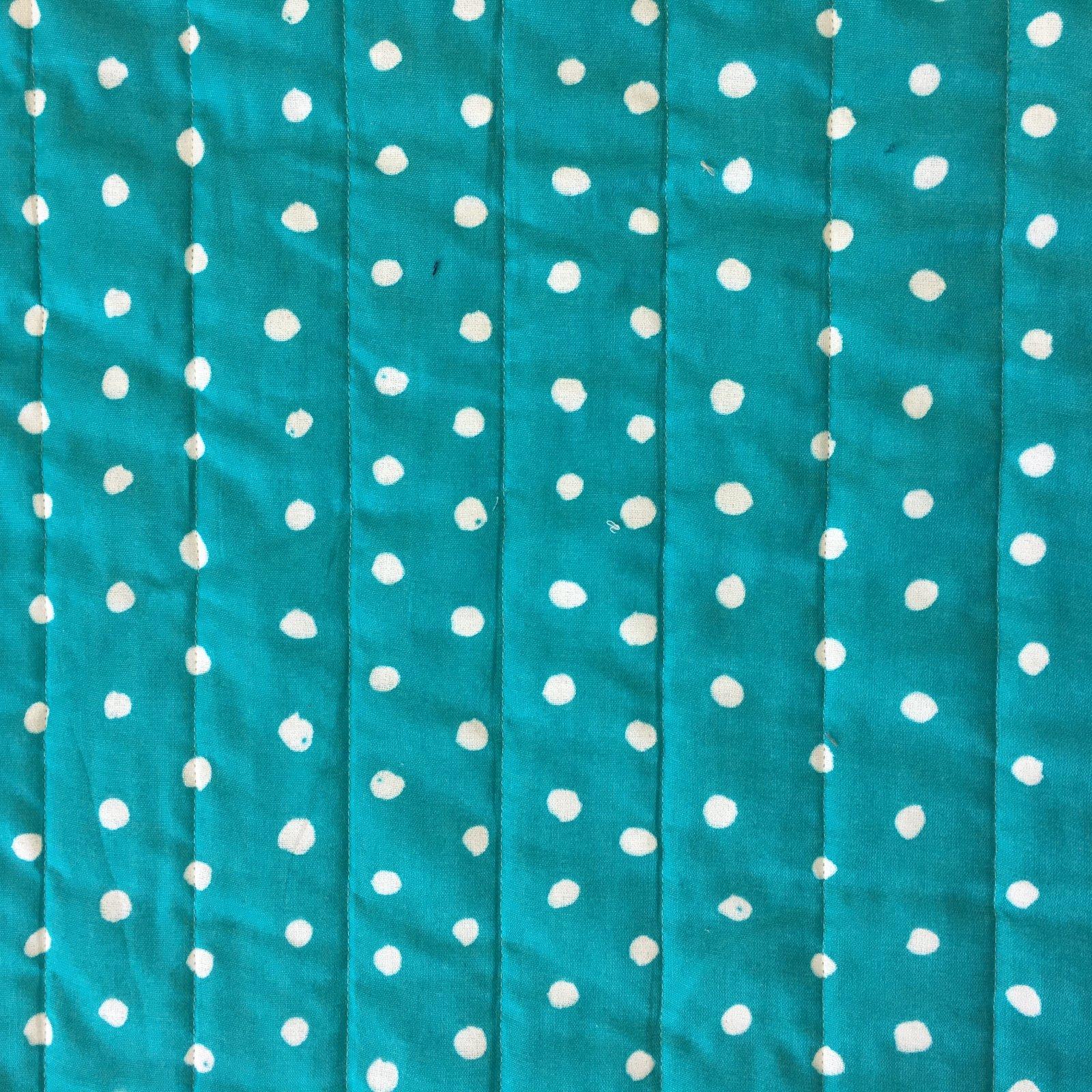 Nani Iro - Quilted Double Gauze - Pocho Dot - Aqua