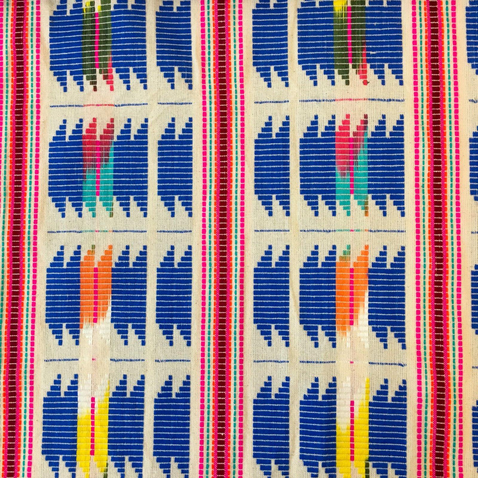 Handwoven Ikat - Blue Zig-Zag