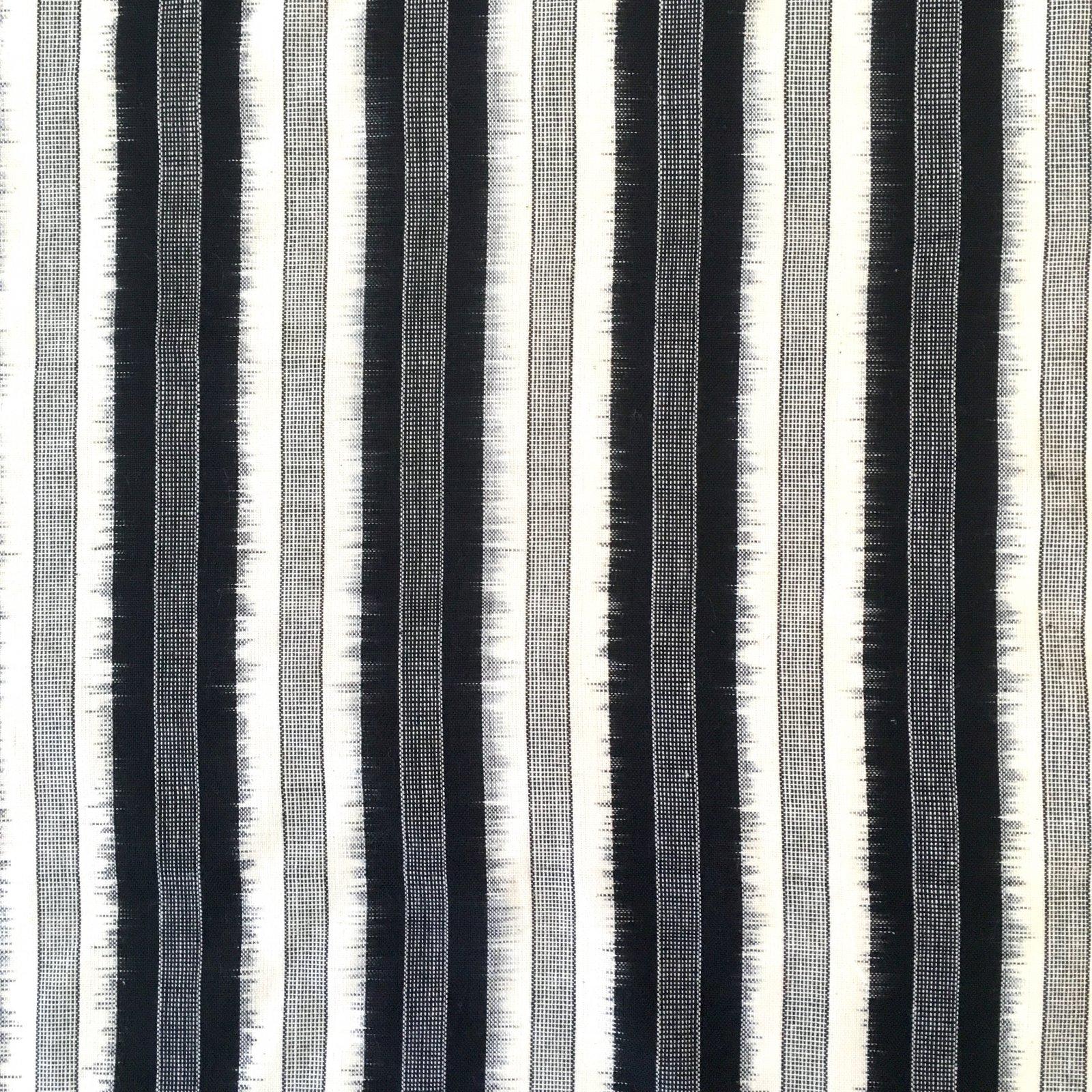 Stripe Ikat - Black on White