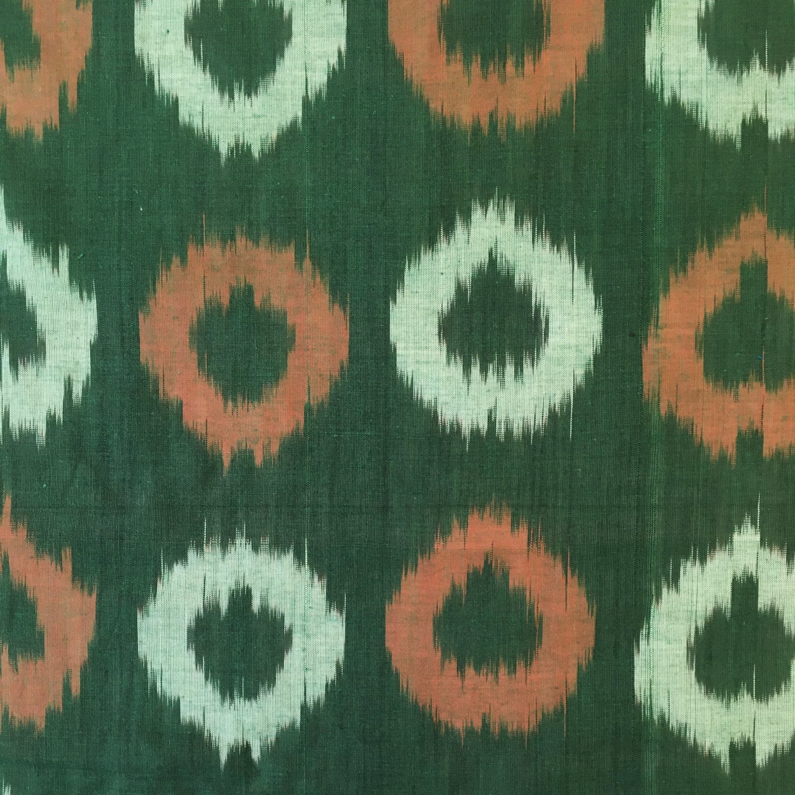 Donut Ikat - Orange/Green