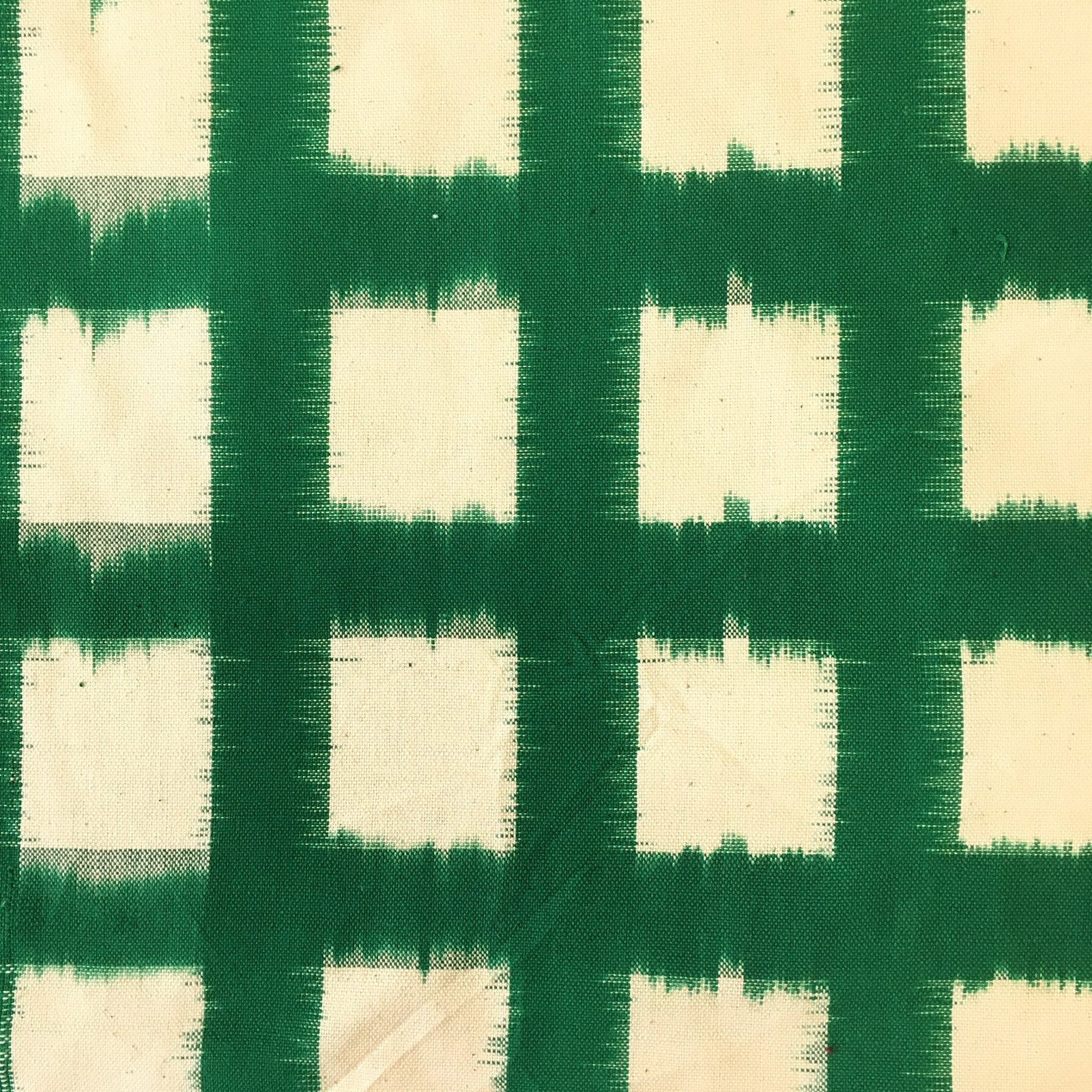 Rainbow Squares Ikat - Kelly Green