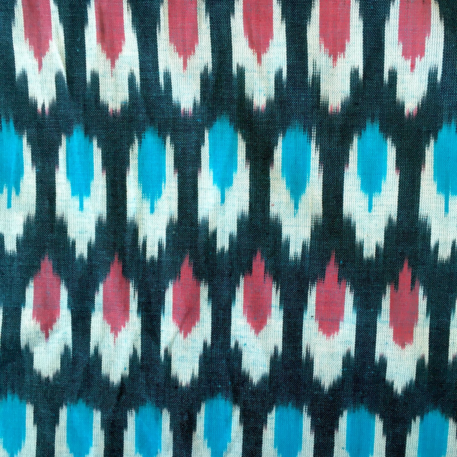 Ellipse Ikat - Blue/Red