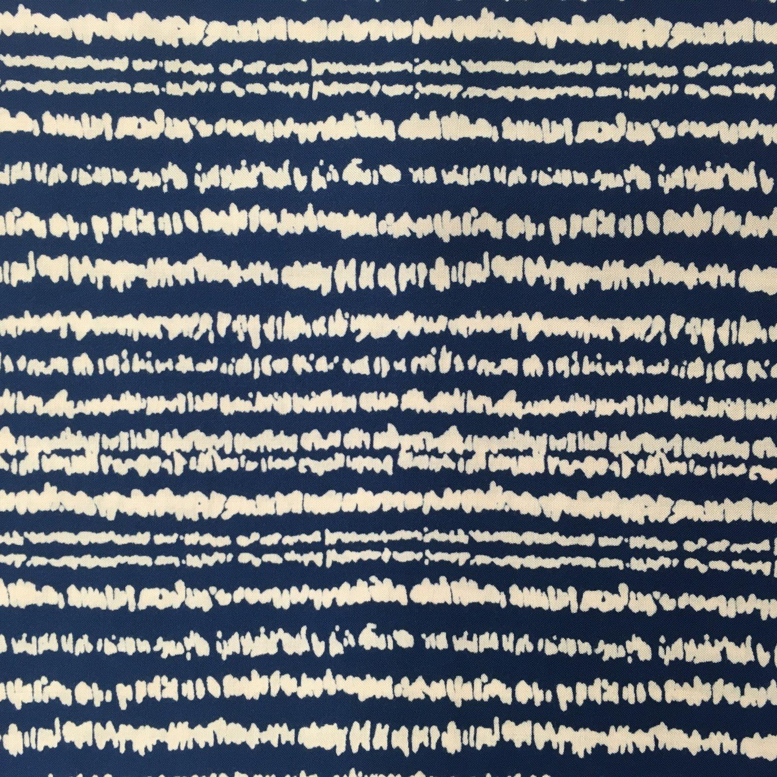 Rayon Challis - Scribble Stripe