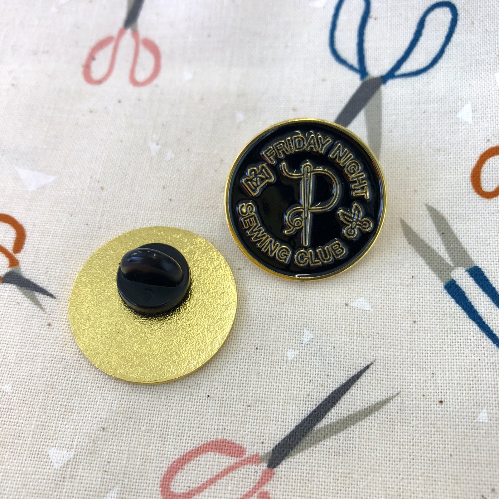 Friday Night Sewing Club Pin