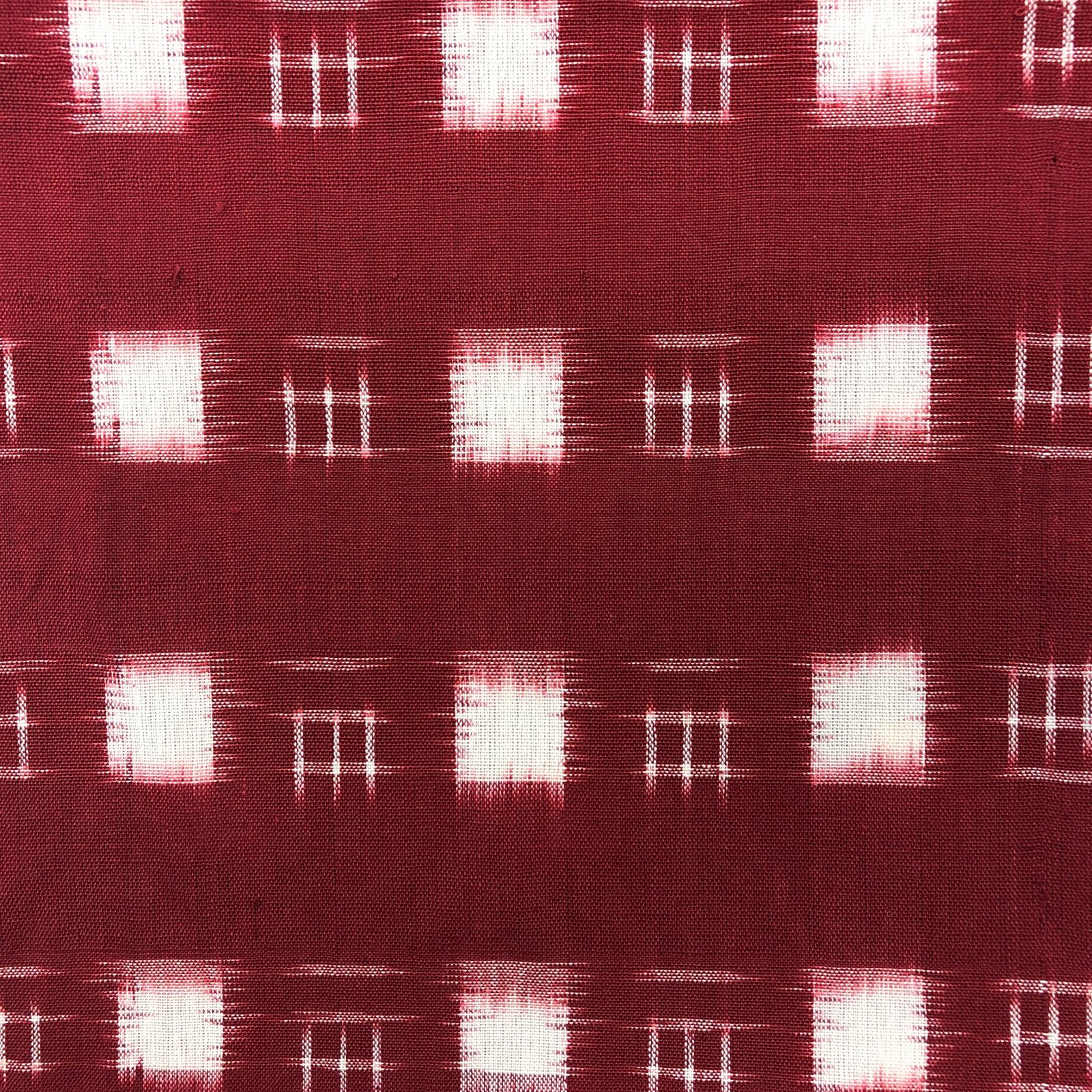 Squares and Checks Ikat - Red