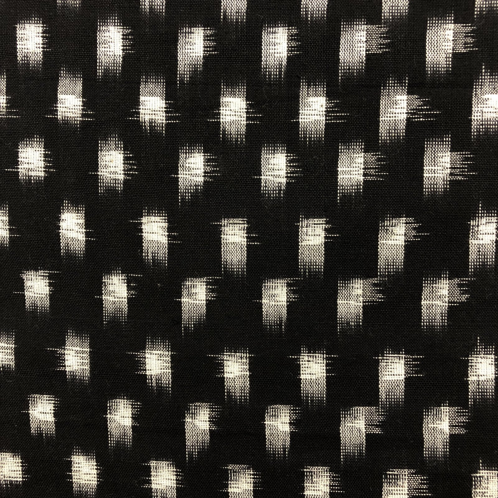 Tight Squares Ikat - Black