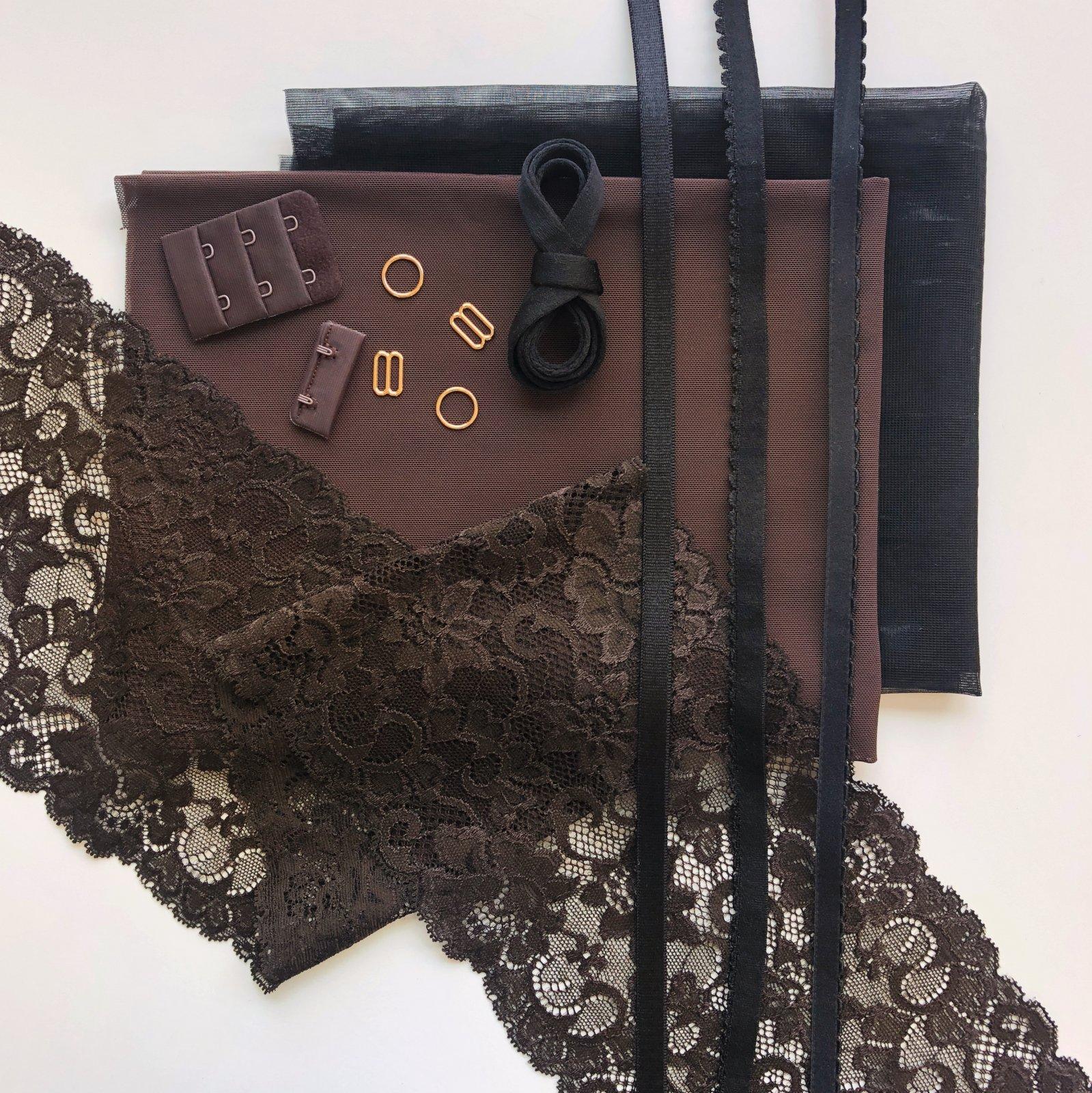 Lace Underwire Bra Kit - Cocoa
