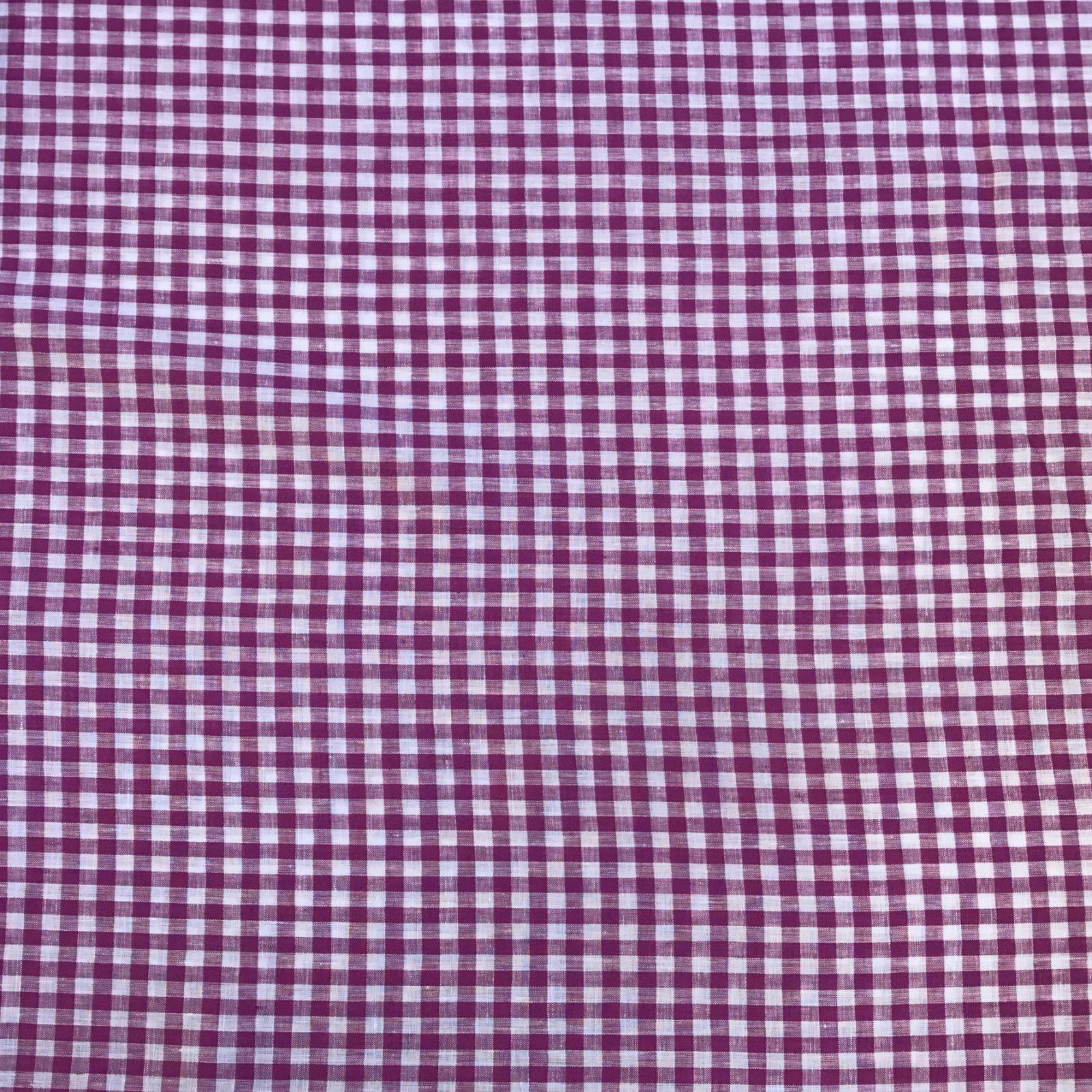 Linen Gingham Check - Grape