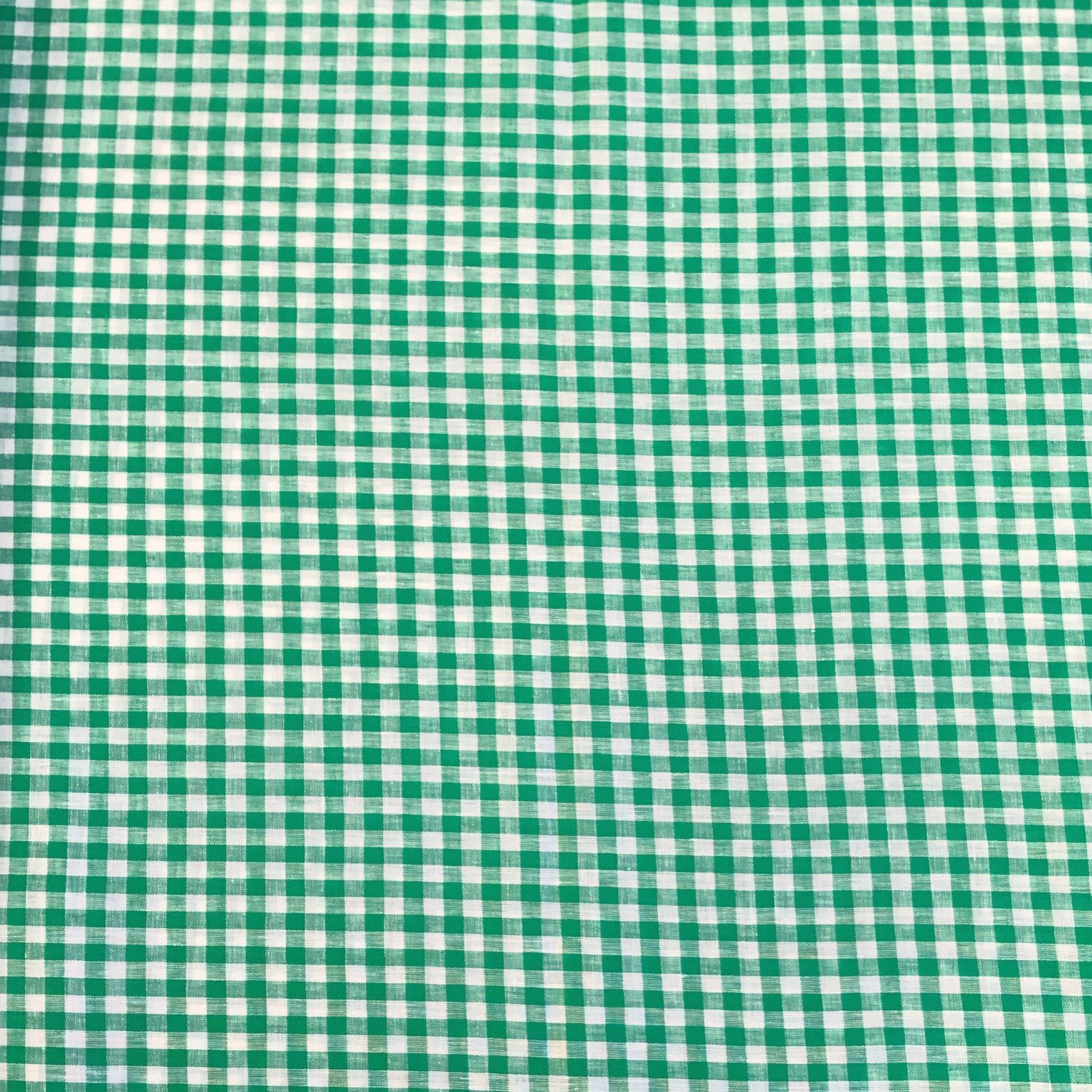 Linen Gingham Check - Kelly