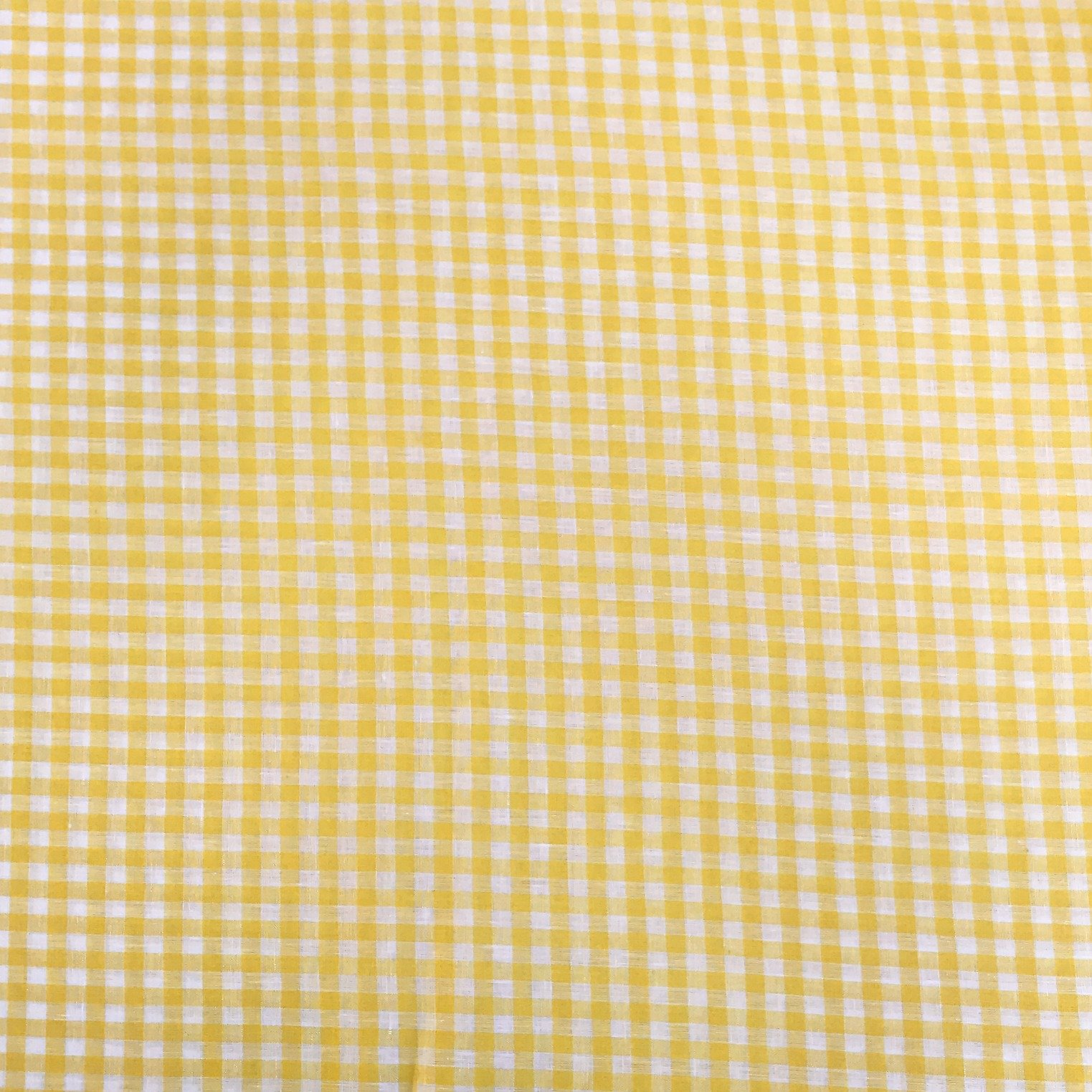 Linen Gingham Check - Lemon