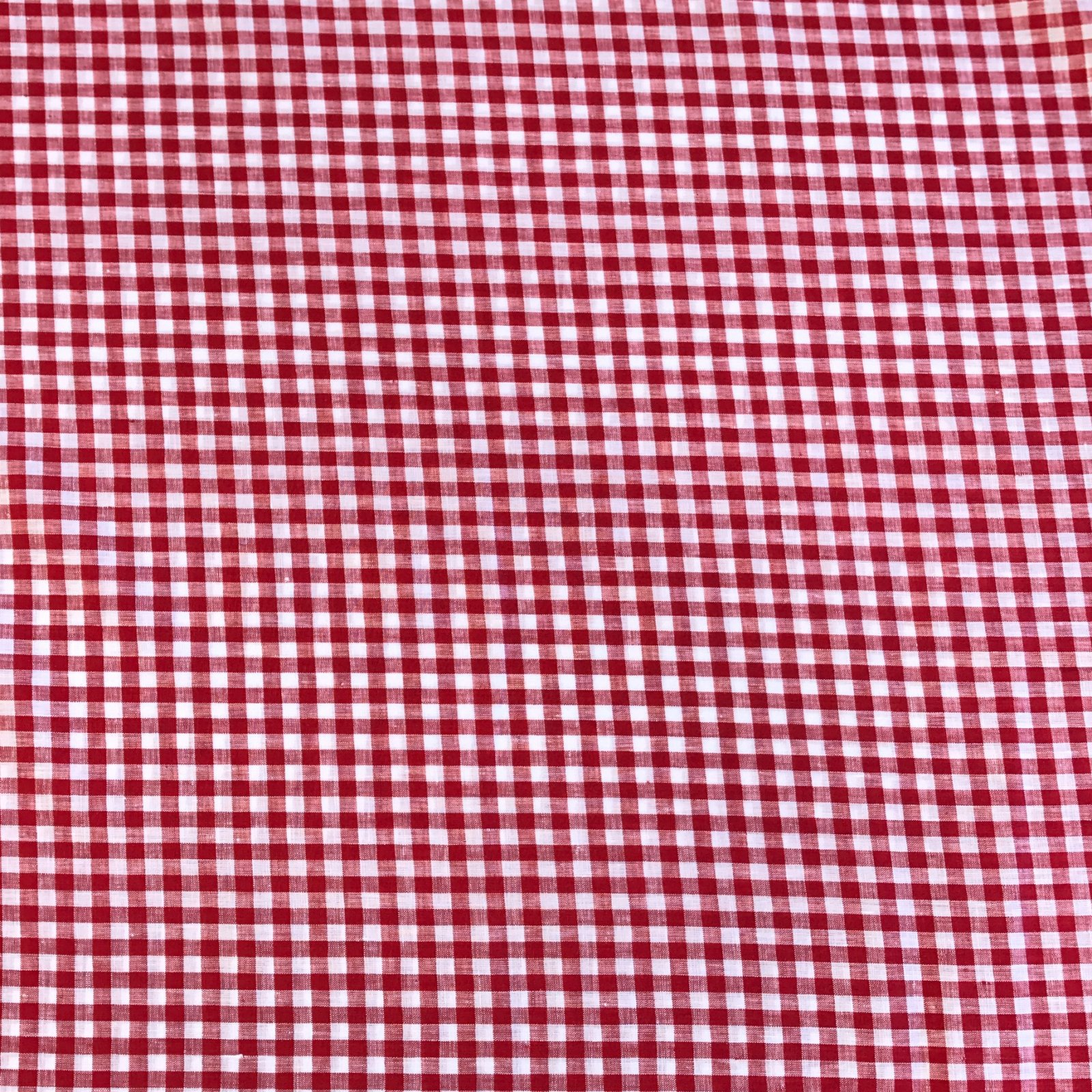 Linen Gingham Check - Red