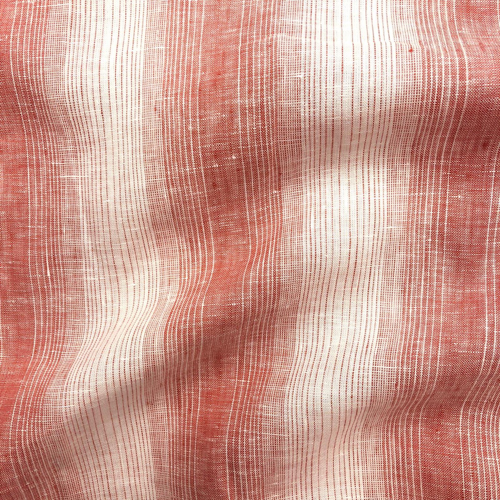 100% Linen - Yarn Dyed Varied Stripe - Apple