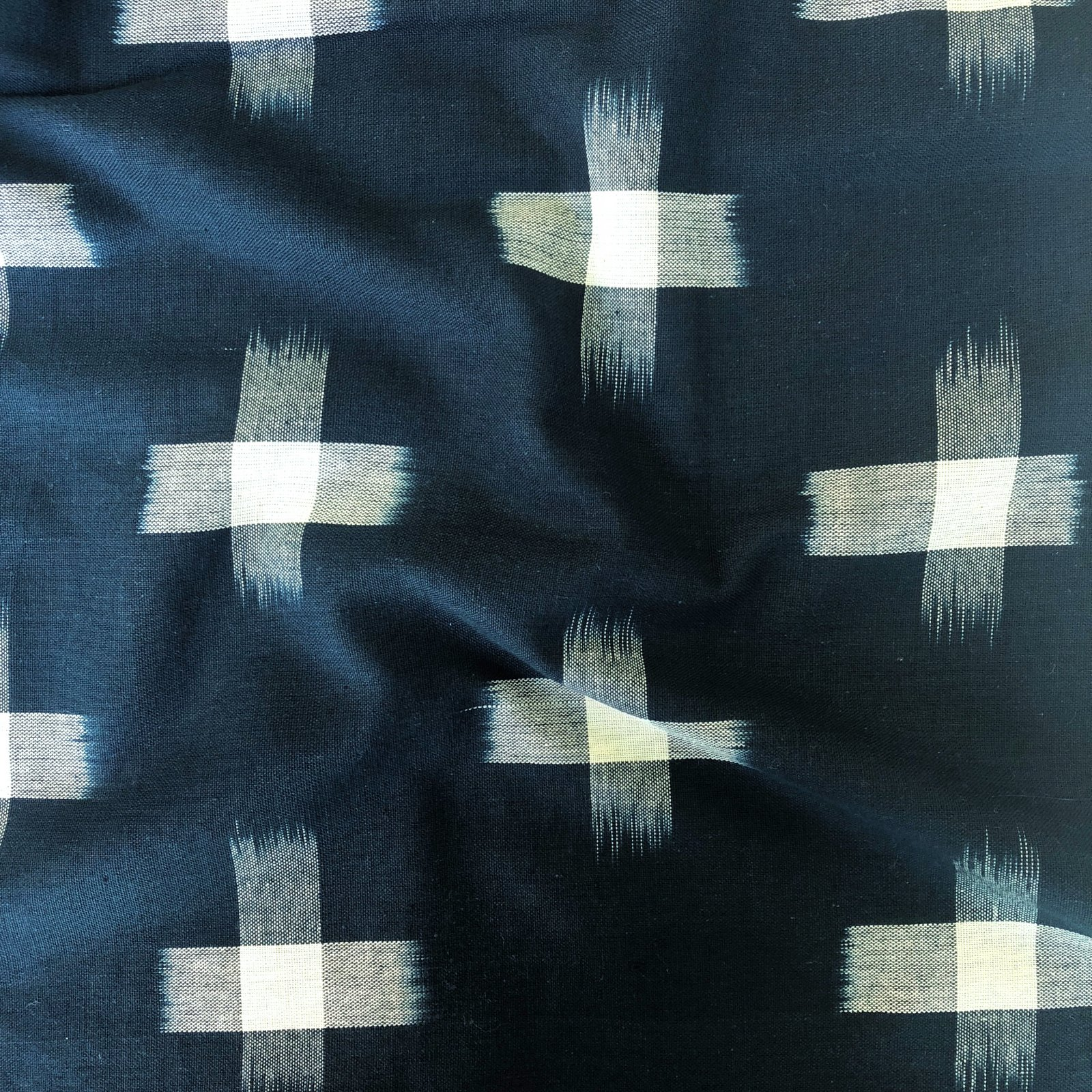 Ikat - Big Cross - Teal