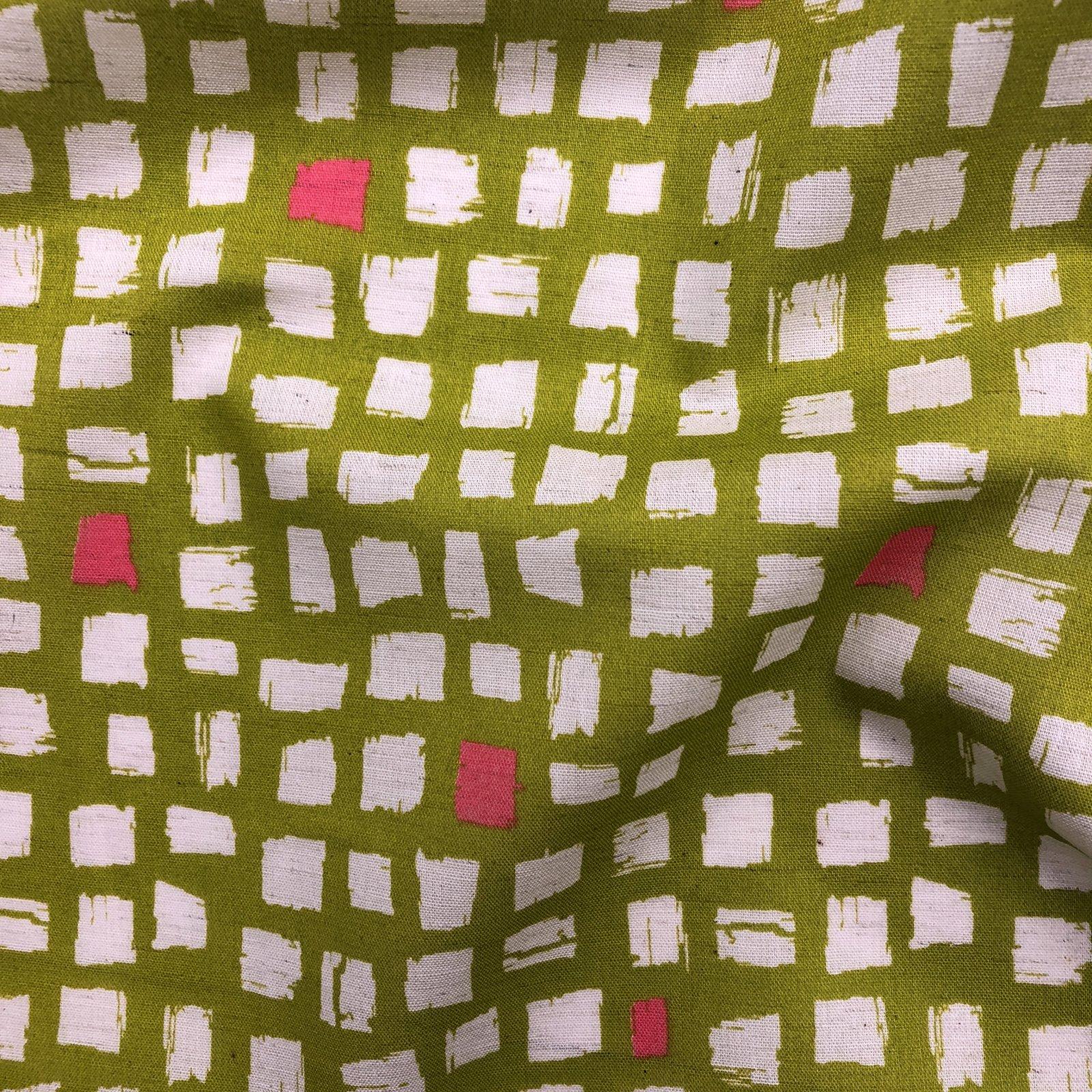 Cosmo - Cotton/Linen - Windows - Citrus/Pink