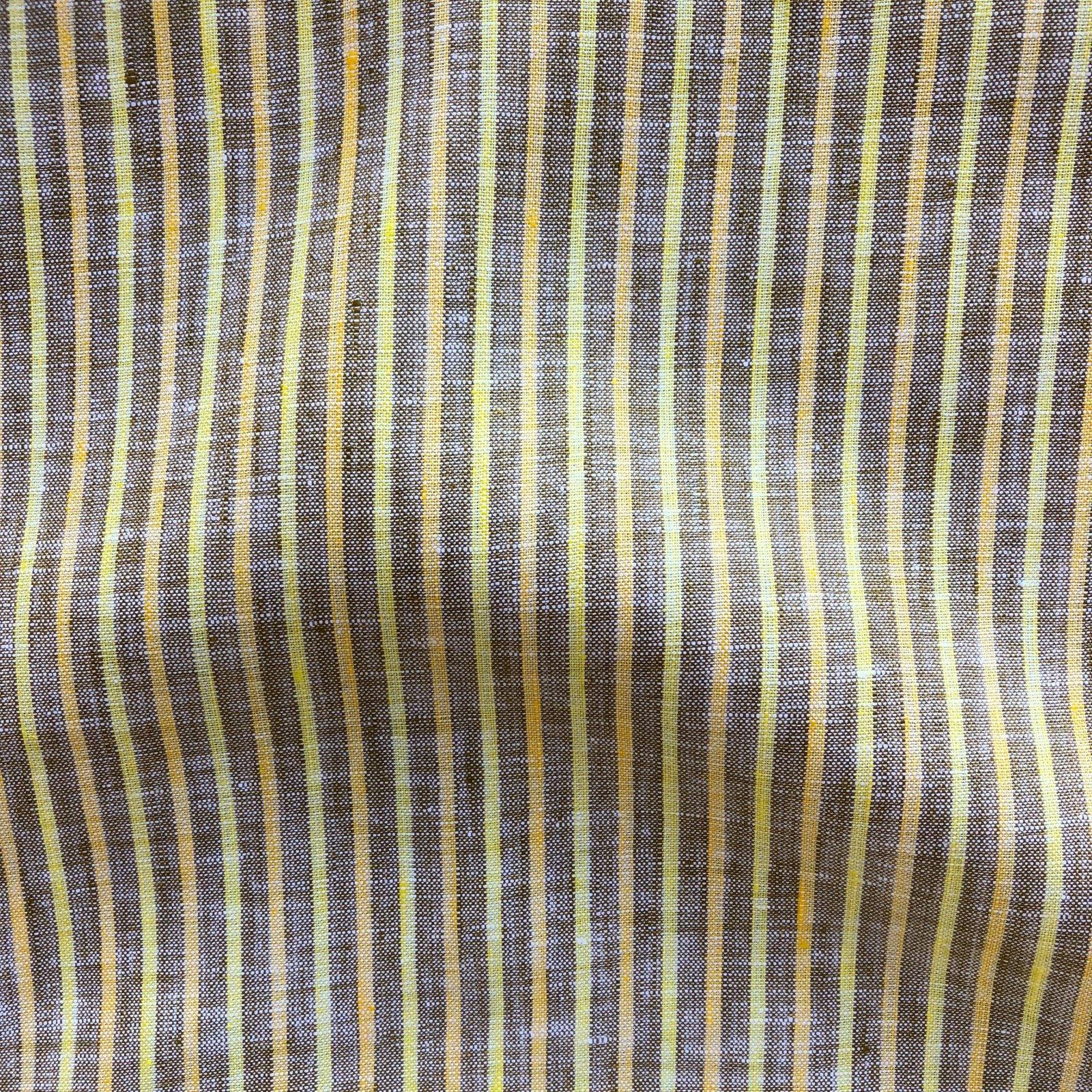 Bazaar Yarn Dyed Linen - Citrus/Tan Stripe