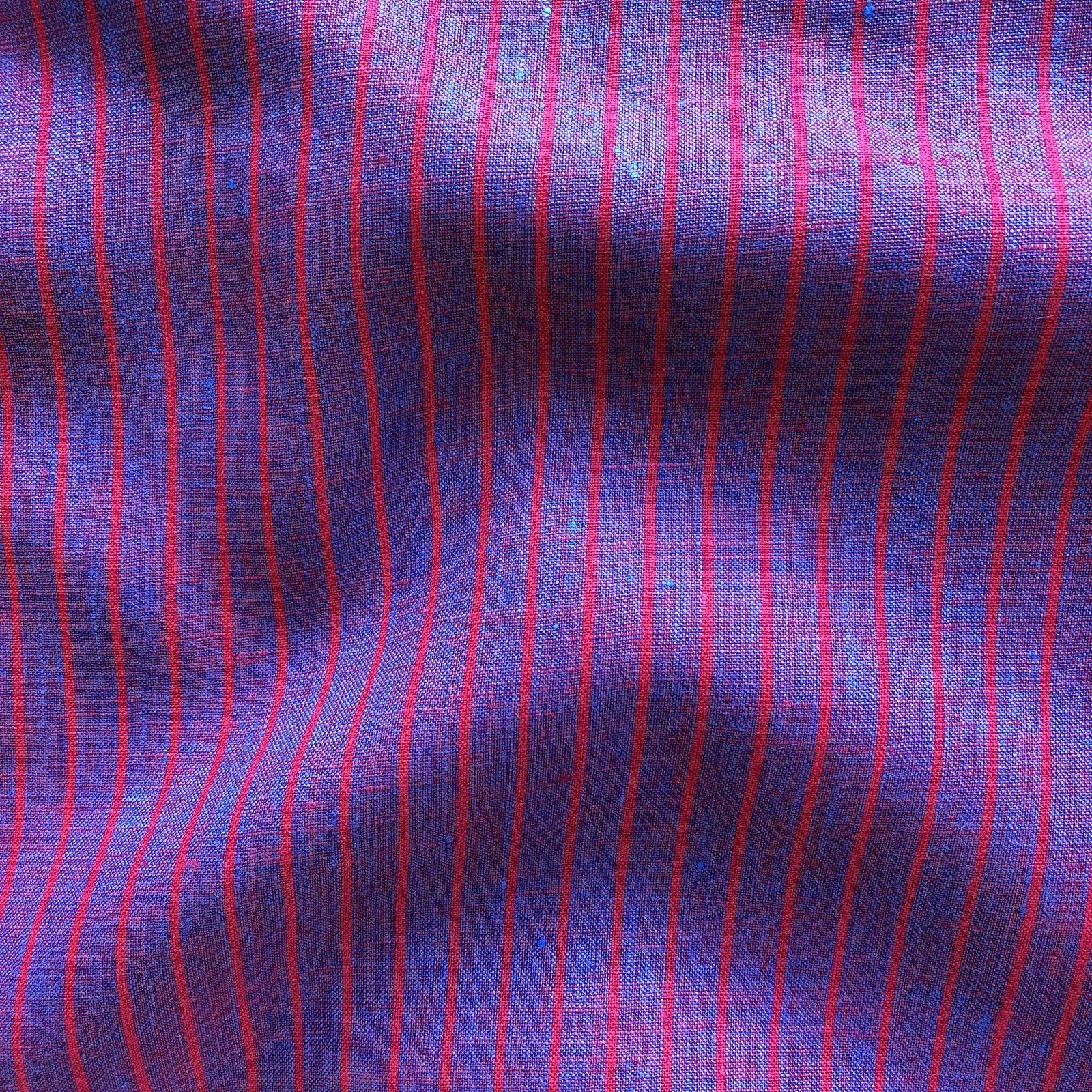Bazaar Yarn Dyed Linen - Magenta Stripe