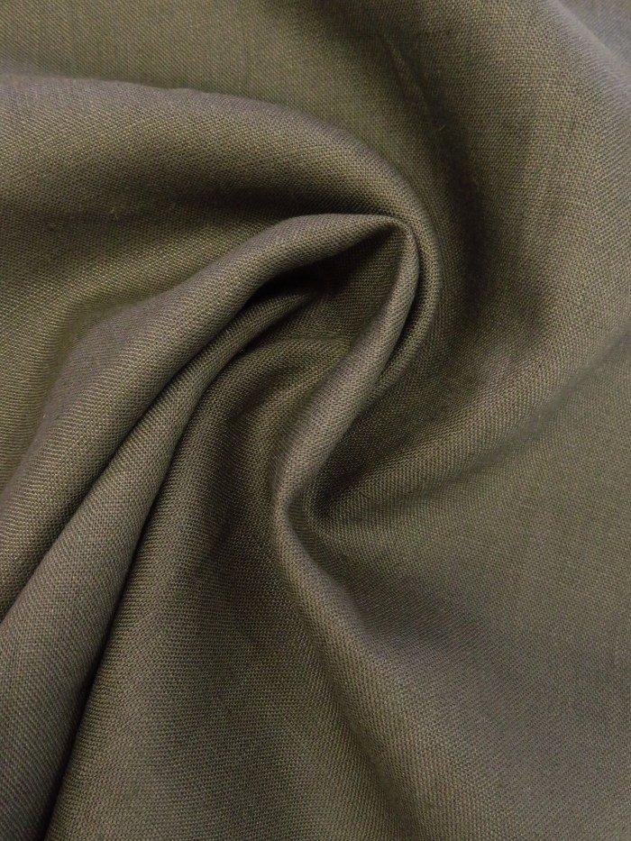 Lightweight Linen - Dark Olive