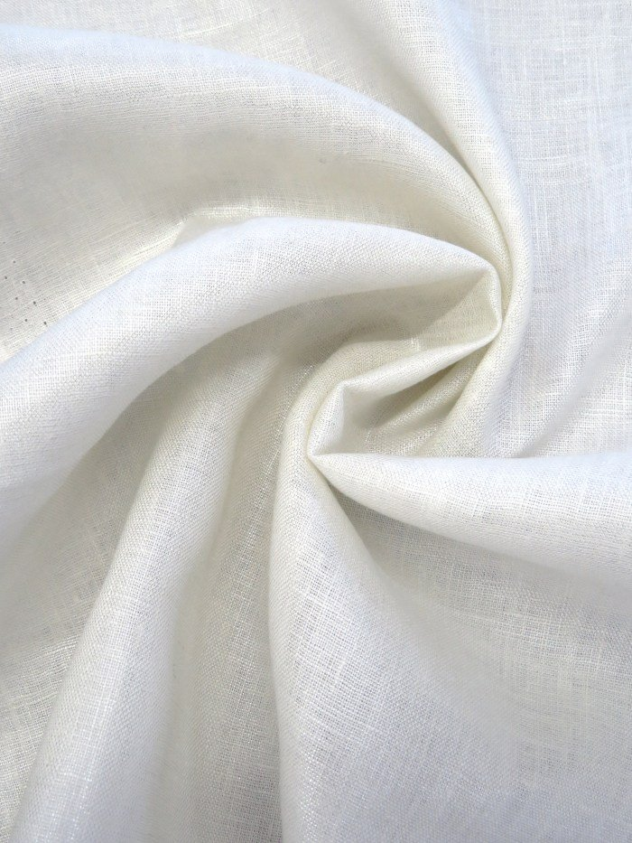 Metallic Linen - Off White/Silver