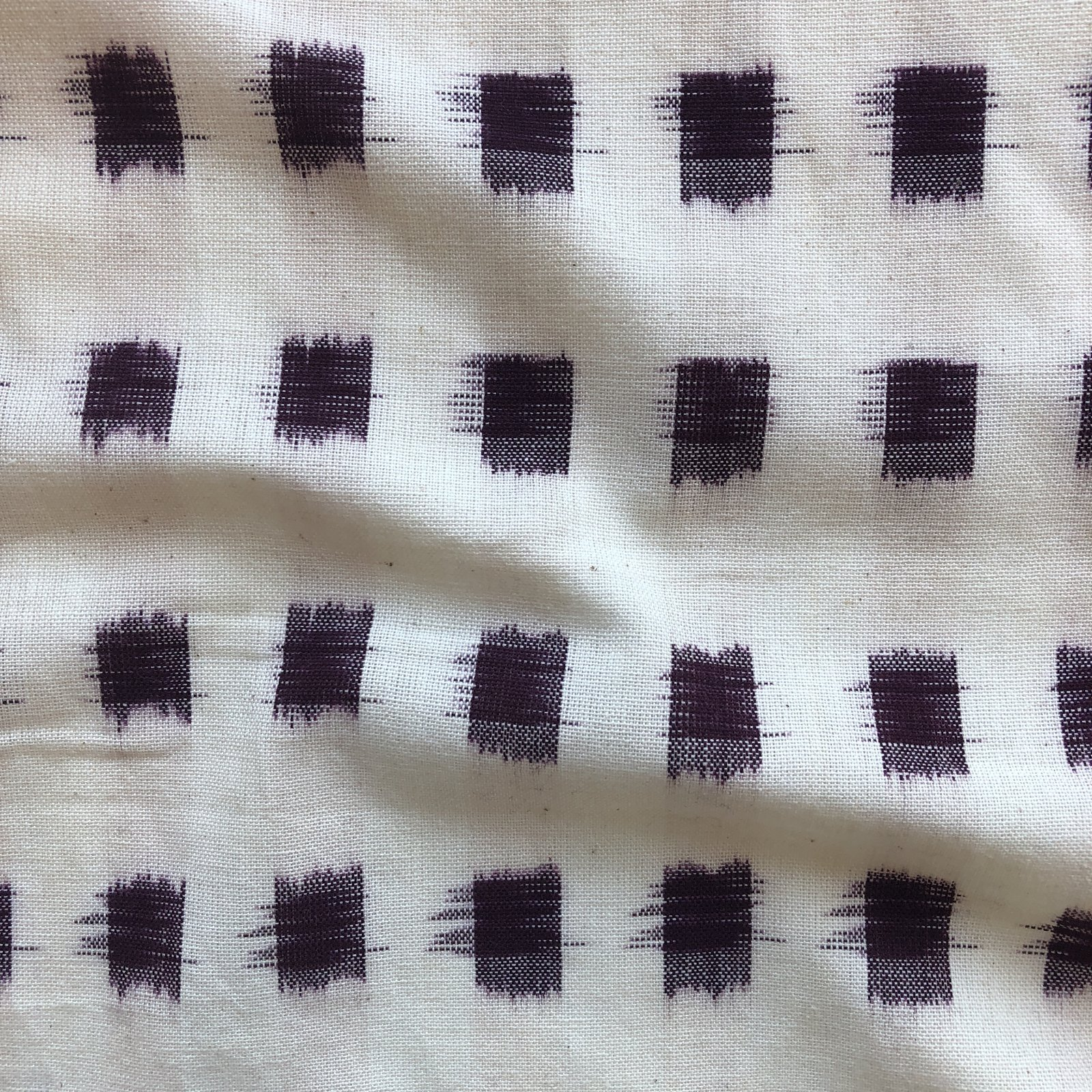 Dakota Square Ikat - Wine on Cream