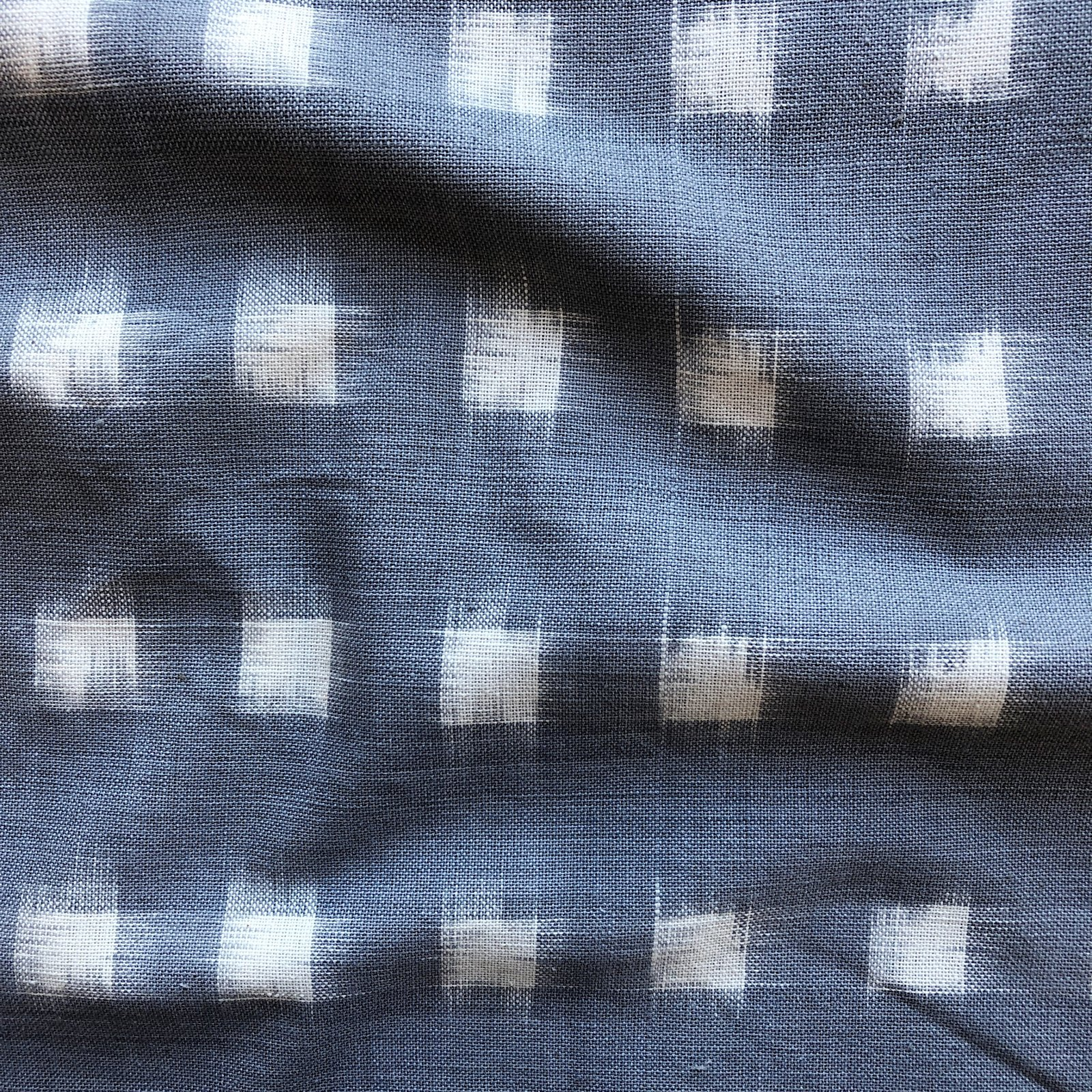 Dakota Square Ikat - Cream on Grey