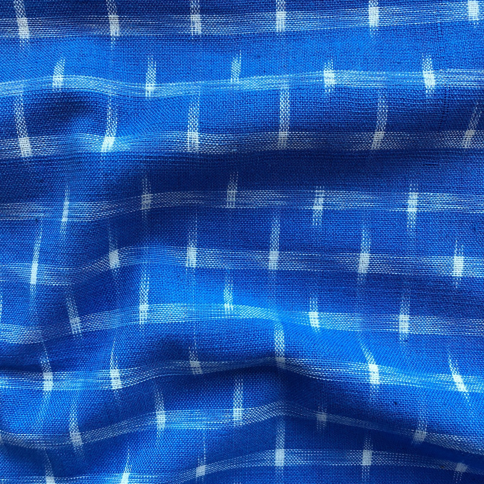 Dakota Star Ikat - Cream on Blue