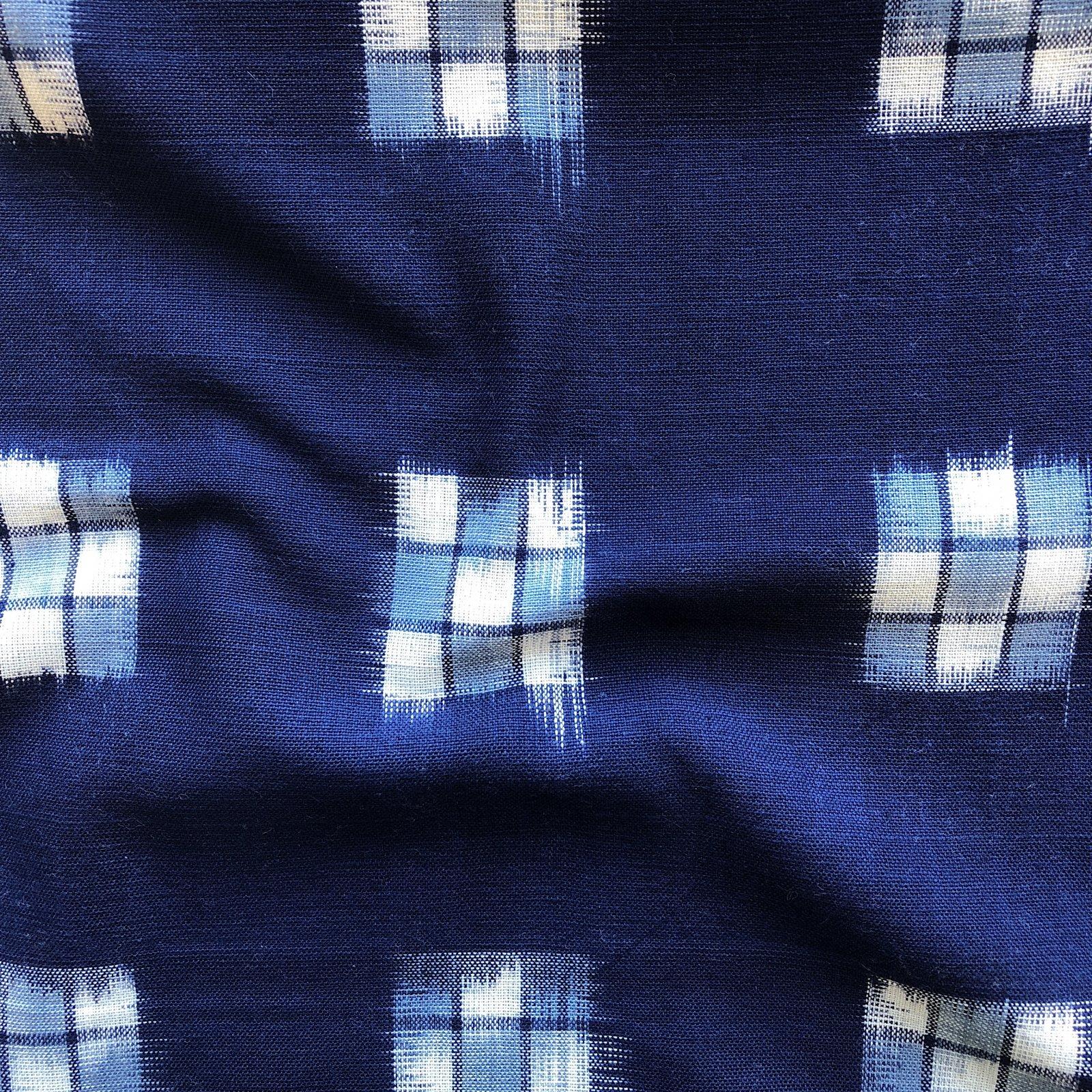 Checker Board Ikat - Blue