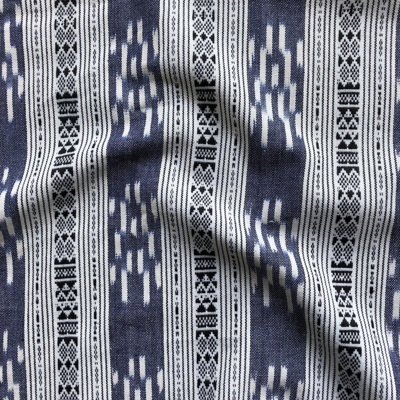 Ikat - Denim Blue Stripe