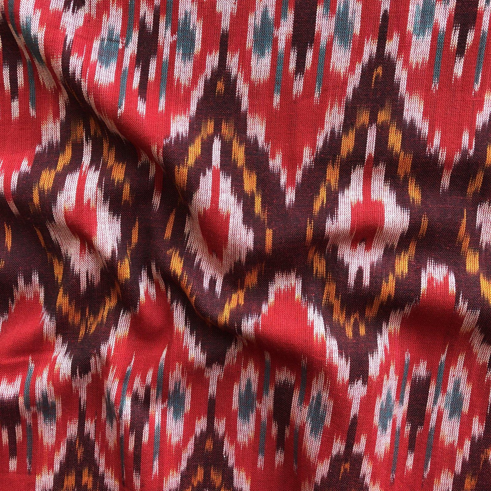 Ikat - Red/Burgundy Diamond