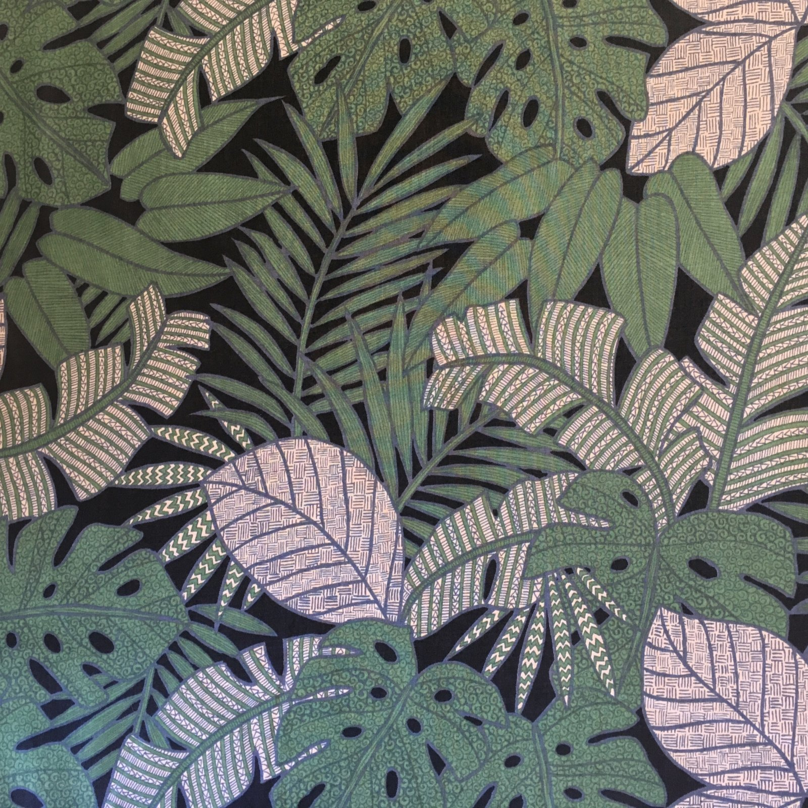 Cotton Lawn - Tropical Leaves