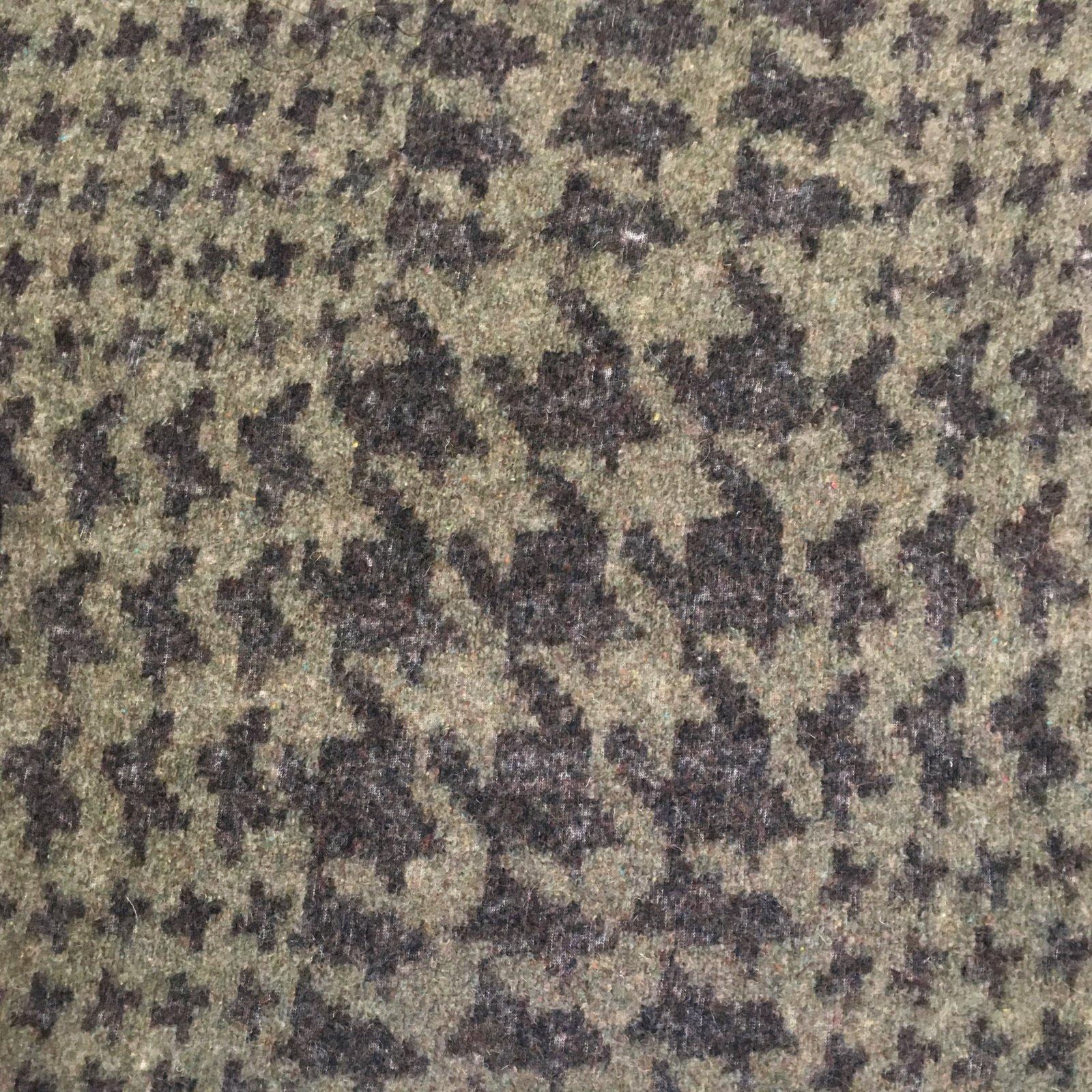 Italian Wool Sweater Knit - Purple/Grey Houndstooth
