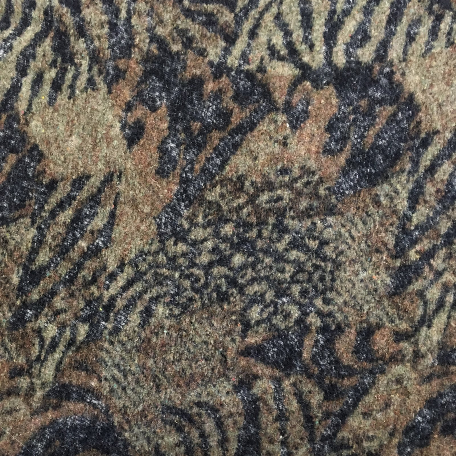 Italian Wool Sweater Knit - Camel Animal Print