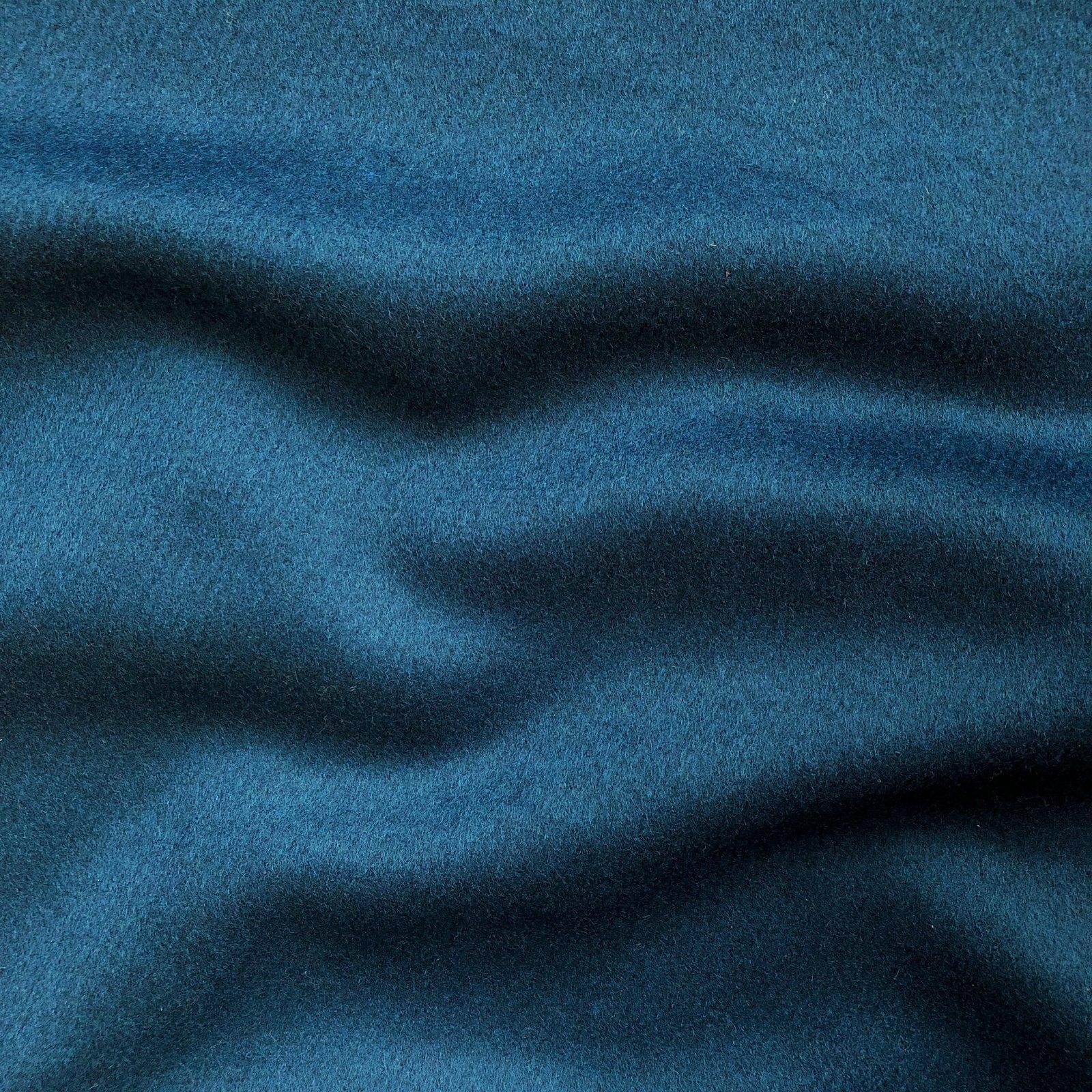 Designer Wool Coating - Ocean Blue