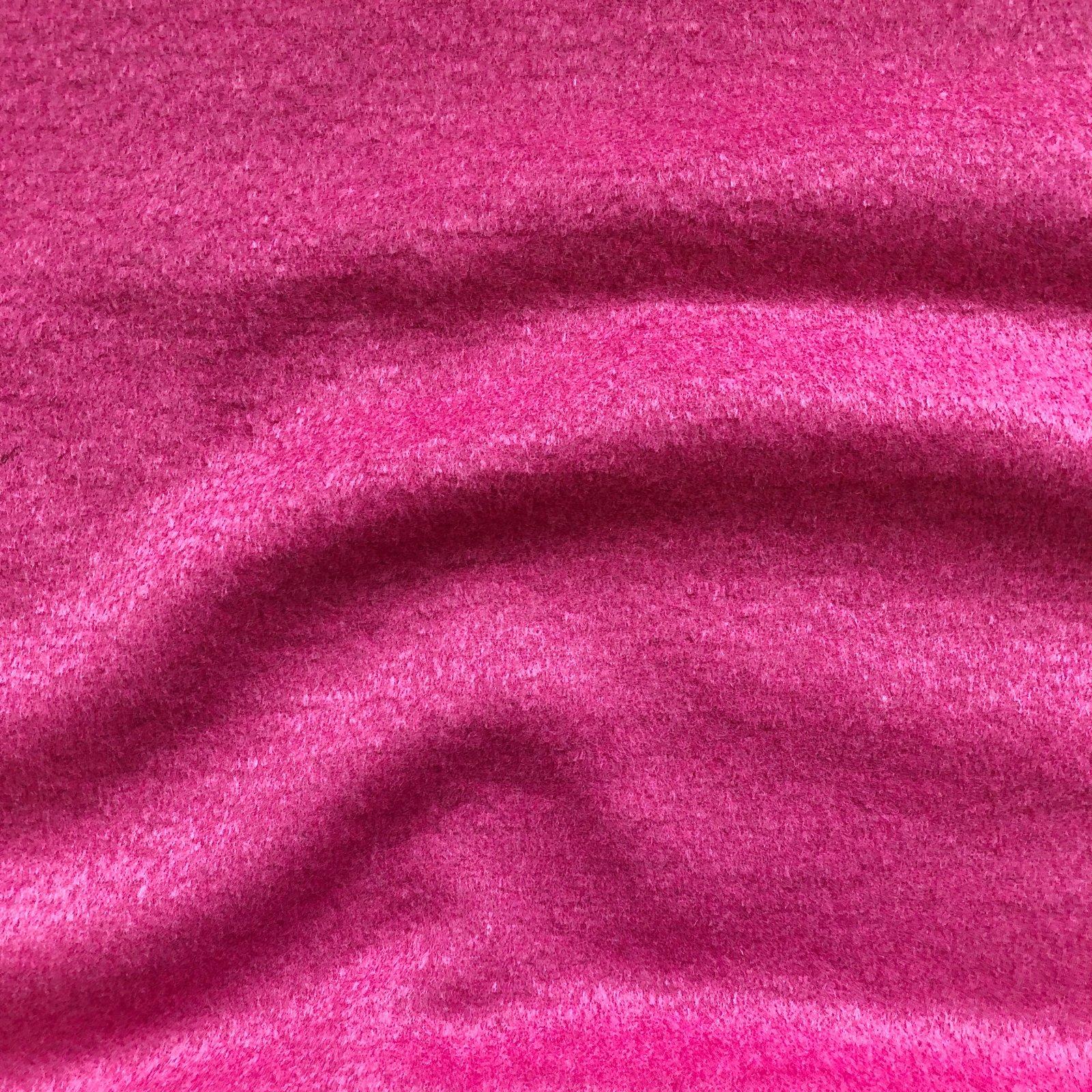 Designer Wool Coating - Candy Pink