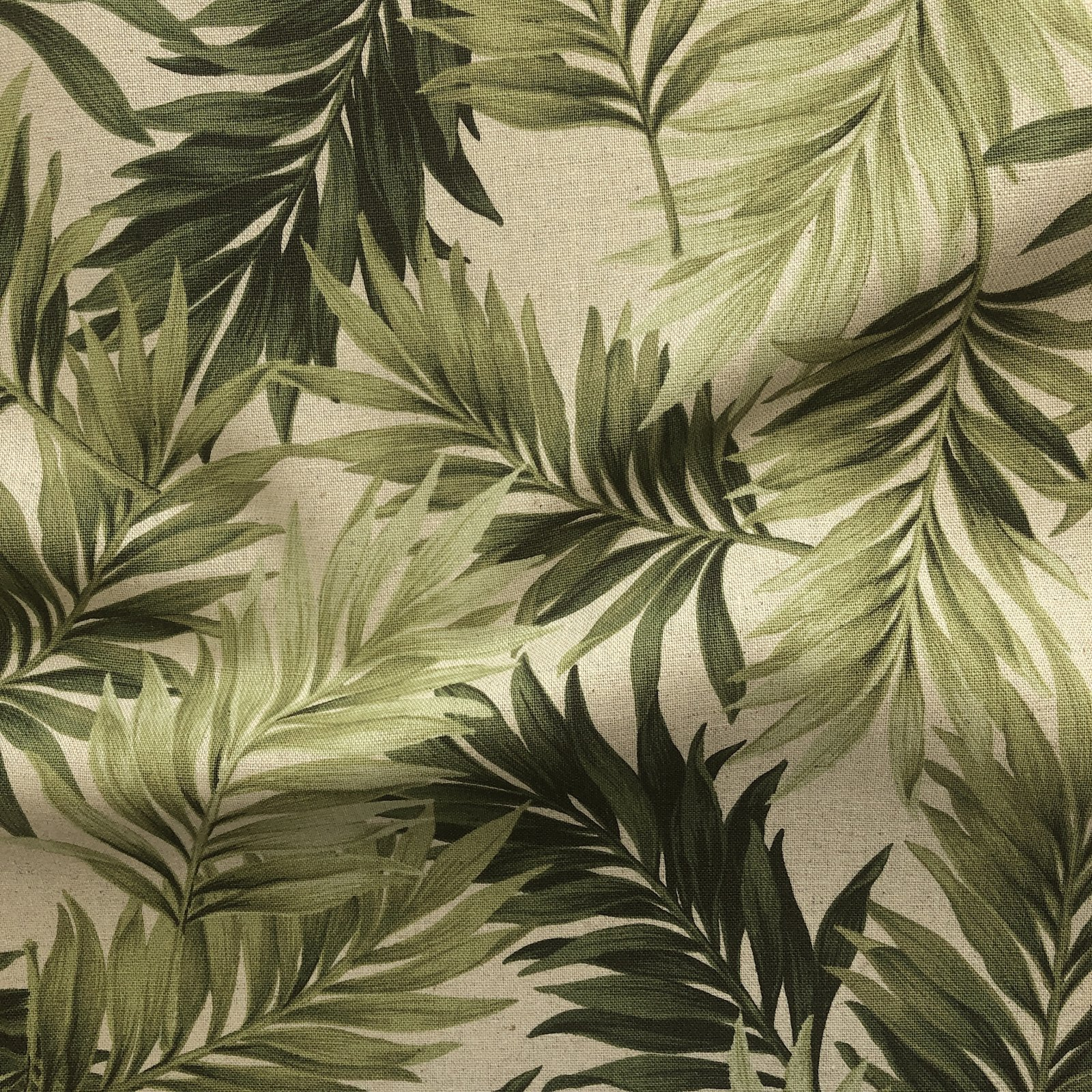 Hishei - Cotton/Linen Canvas - Palm Leaves