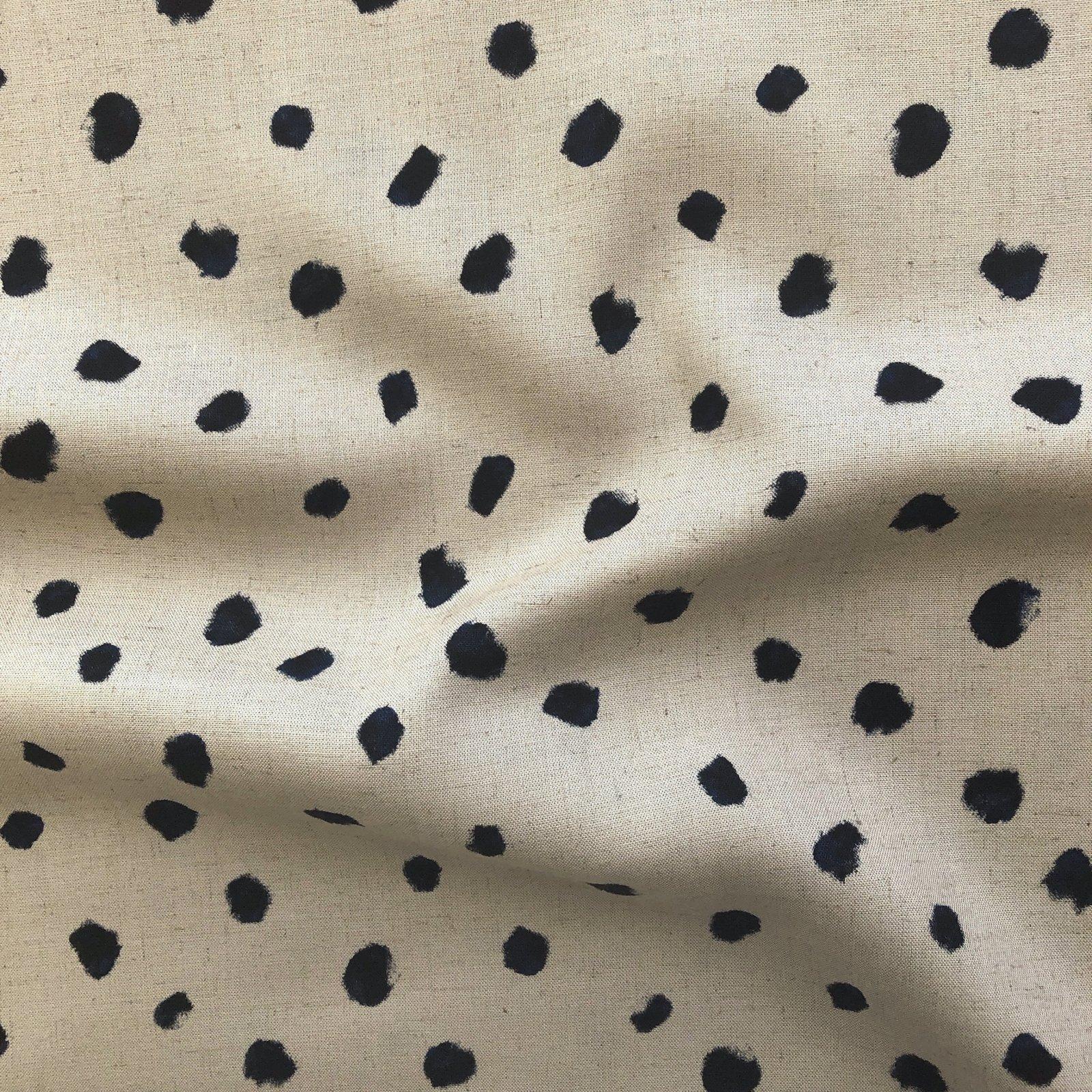 Kokka - Rayon/Linen - Watercolor Spots - Taupe