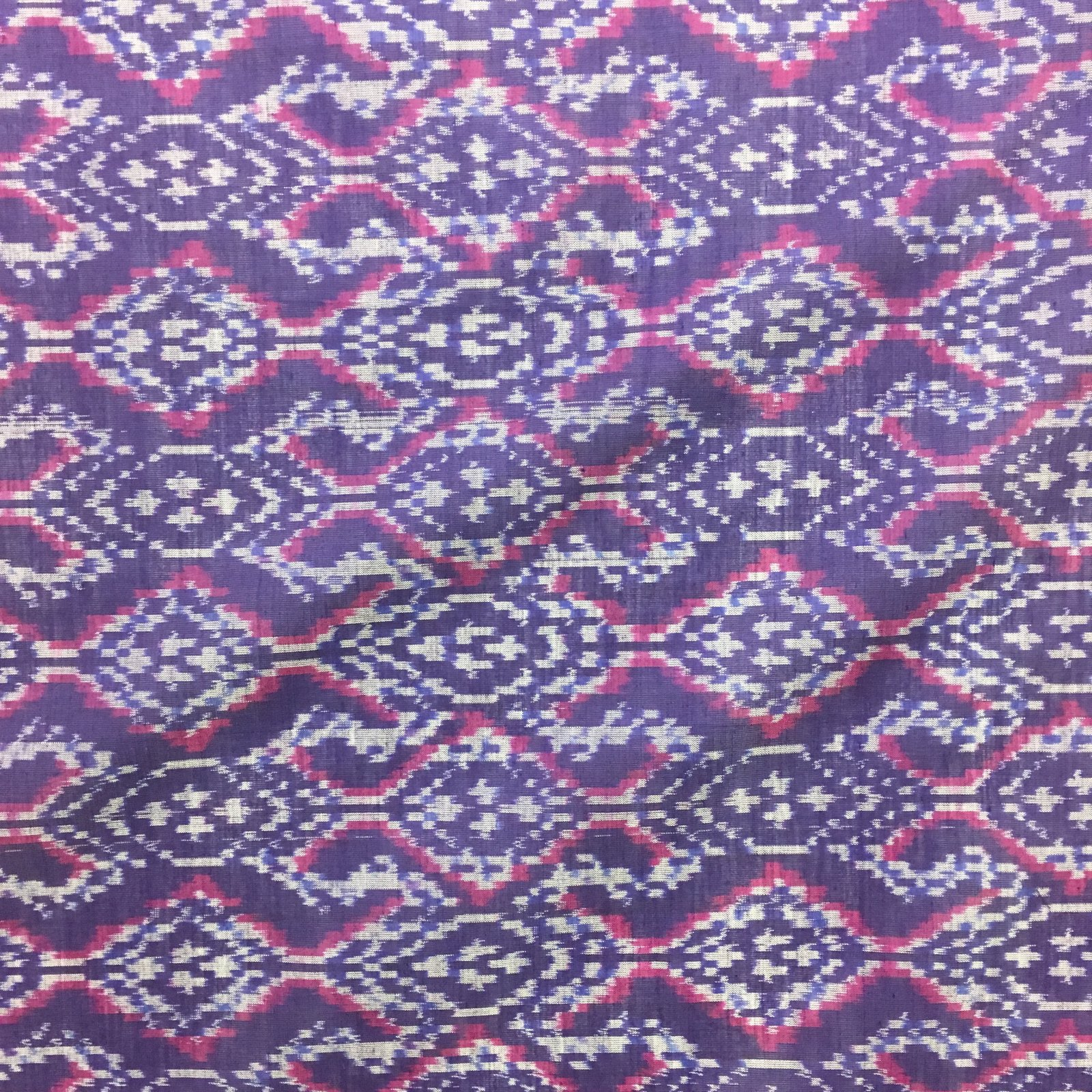 Silk/Cotton Ikat - Purple/Pink