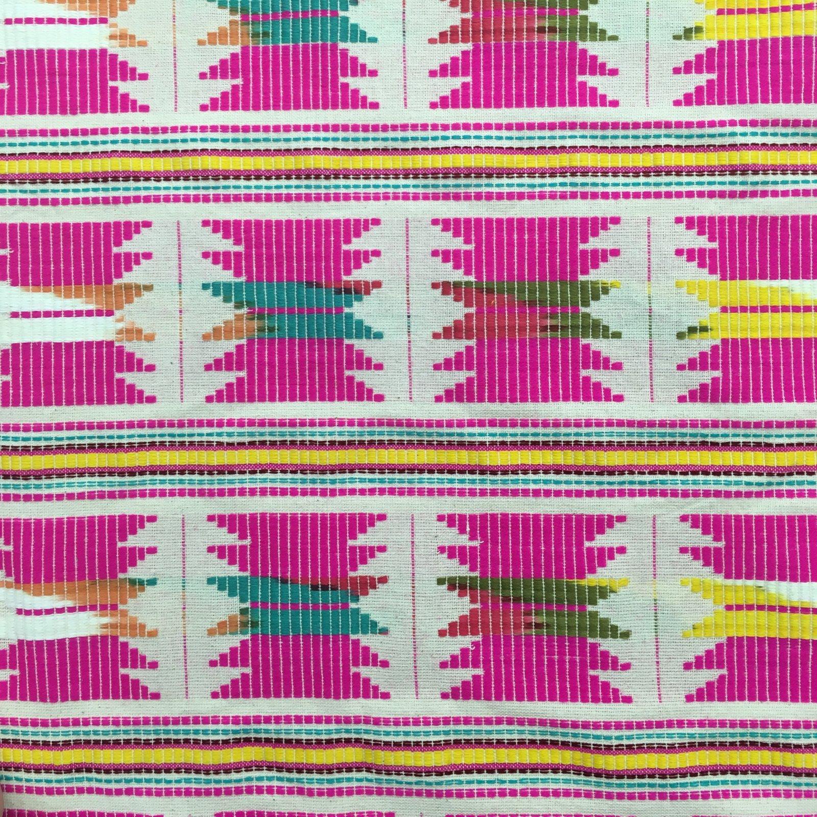 Handwoven Ikat - Pink Zig-Zag