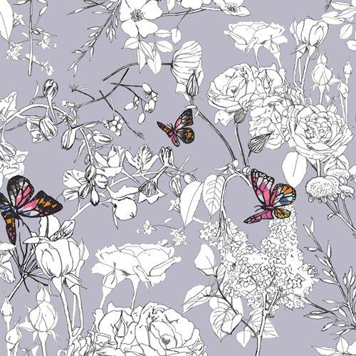 AGF - Cotton/Spandex Jersey - Pixelfly Eden Lavender