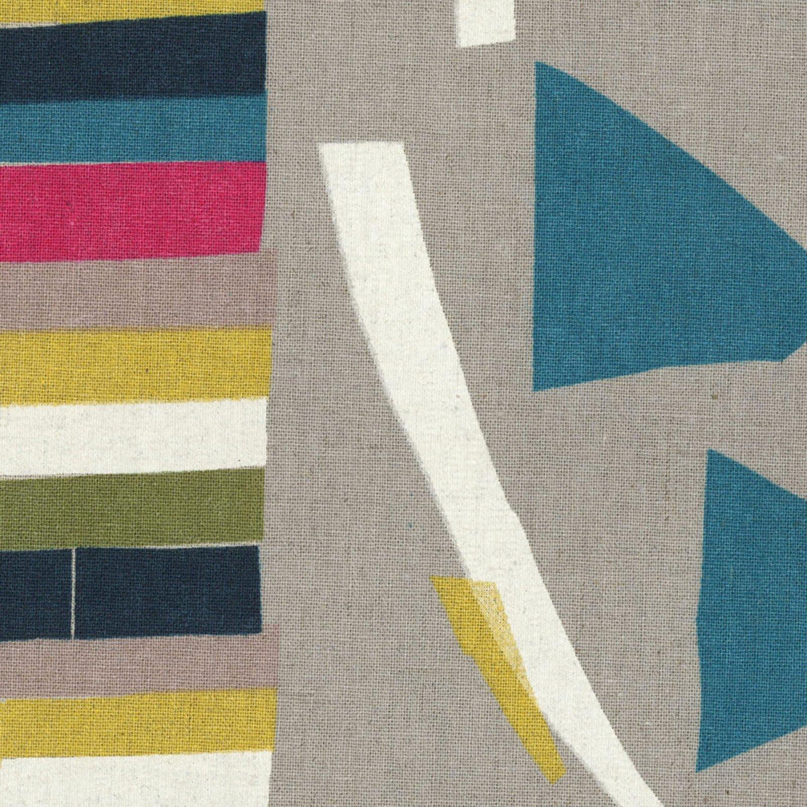 Nani Iro - Border Print Linen/Cotton Canvas - Wonder World - Natural