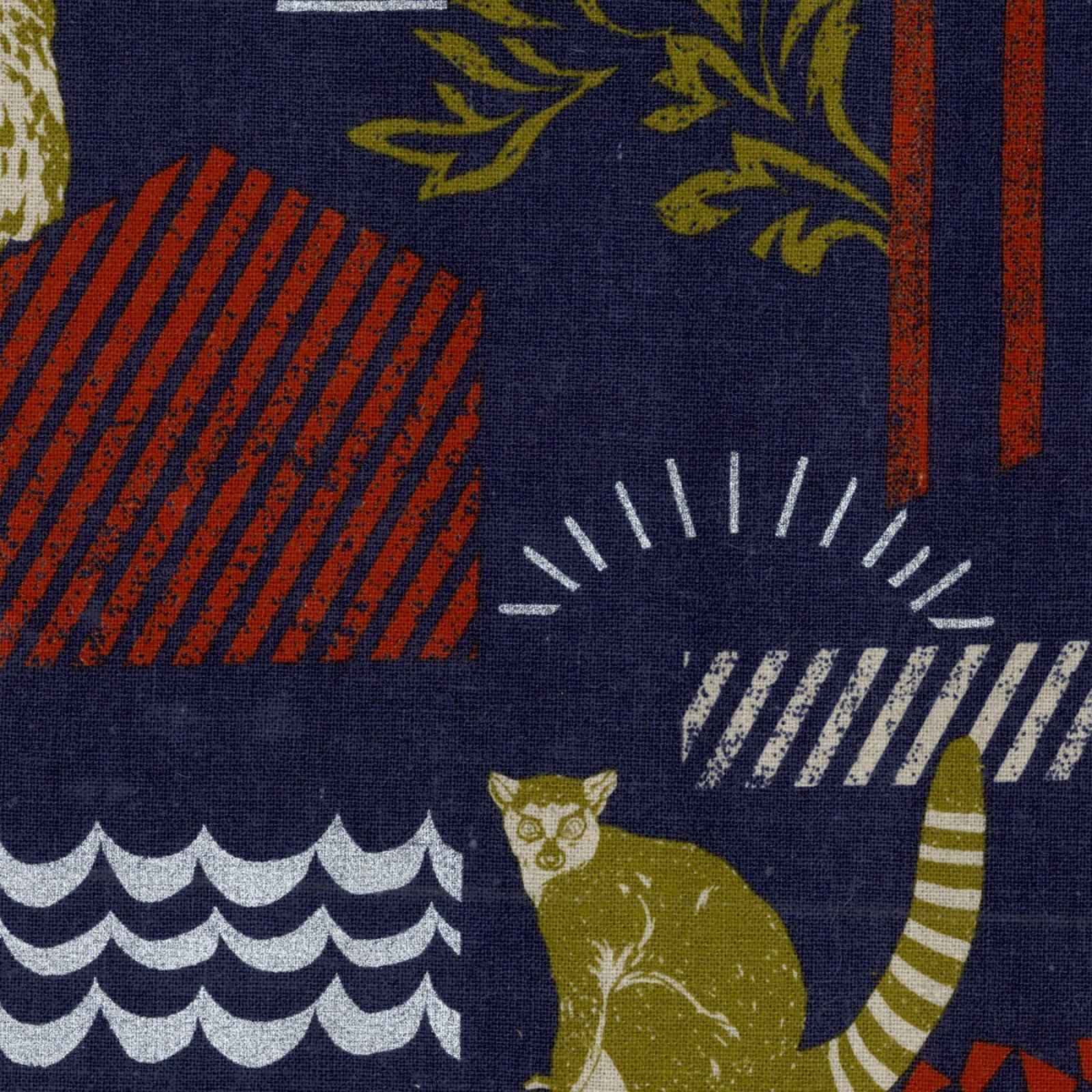 Echino - Cotton/Linen Canvas - Habitat - Navy