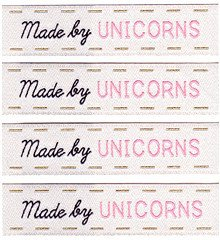 Sublime Stitching Woven Sew-In Labels - Made by Unicorns