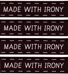 Sublime Stitching Woven Sew-In Labels - Made with Irony